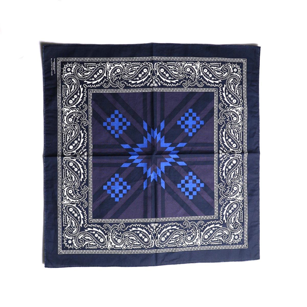 The Soloist / sa.0014AW19 bandana. -Mid Night × Eggplant × Saxe Blue