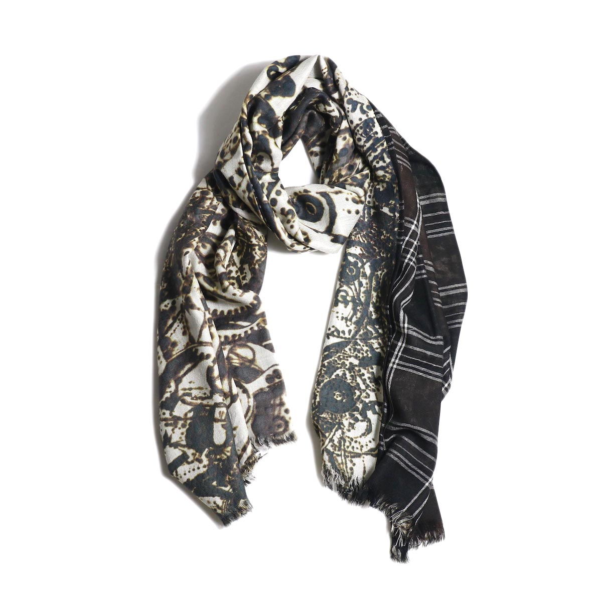 The Soloist / sa.0020AW20 w face rectangle scarf.着用イメージ