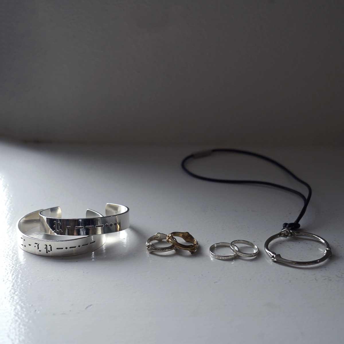 The Soloist / sa.0028AW21 morse code band ring. (RE:)イメージ2