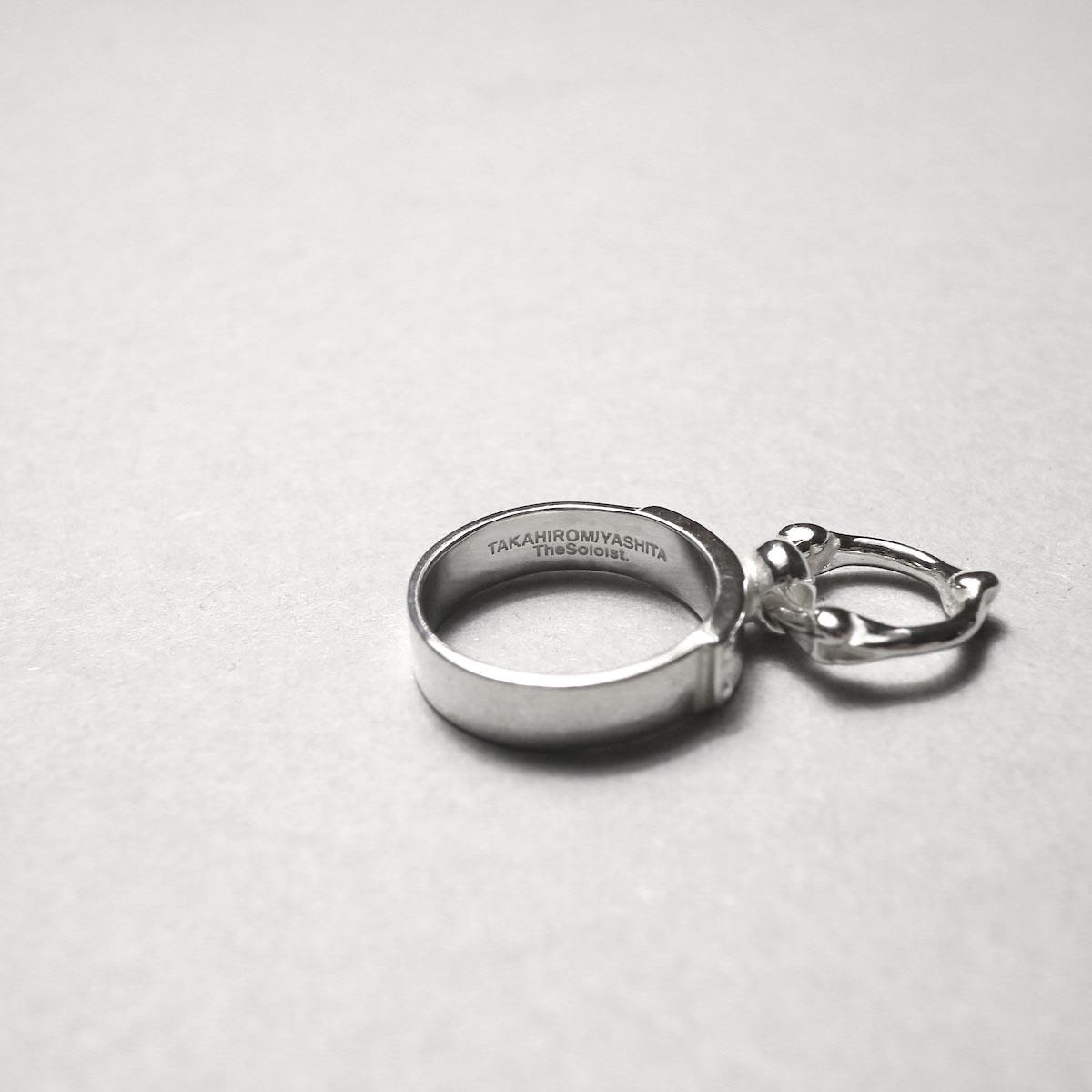 The Soloist / sa.0041AW20 single bone shaped ring narrow ring.内側刻印