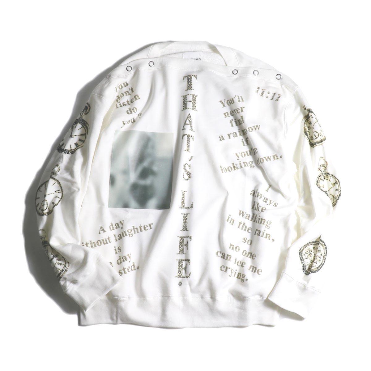 The Soloist / sc.0001aAW20 shoulder buttoned boat neck sweatshirt.