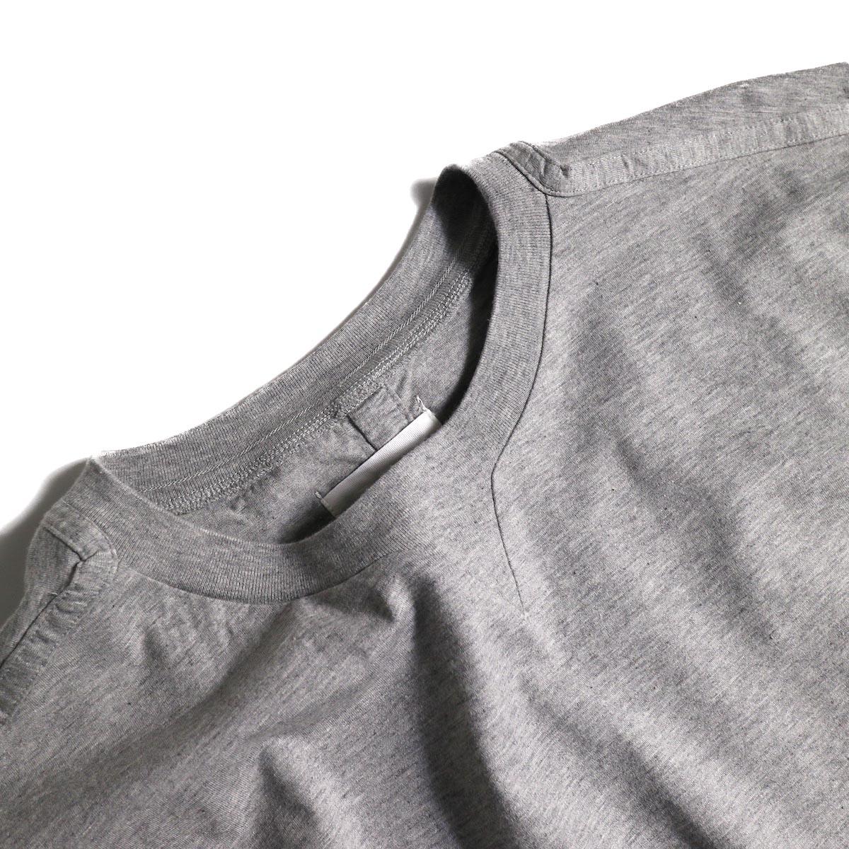 The Soloist / swc.0007a crew neck s/s tee (Gray)ガセット