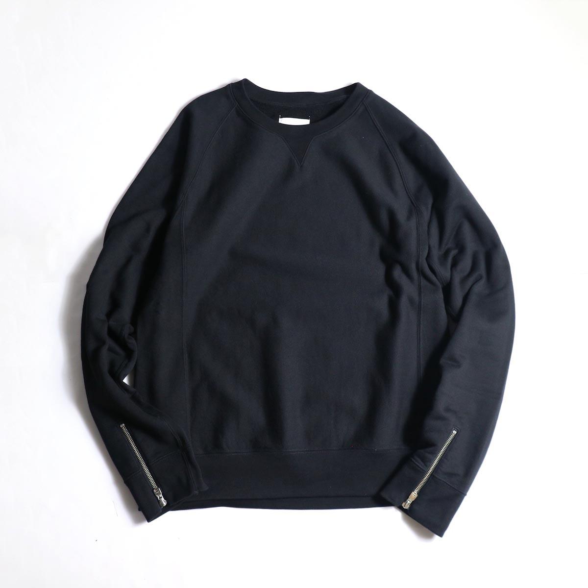 The Soloist / sc.0013bAW20 crew neck sweatshirt. (Black)正面