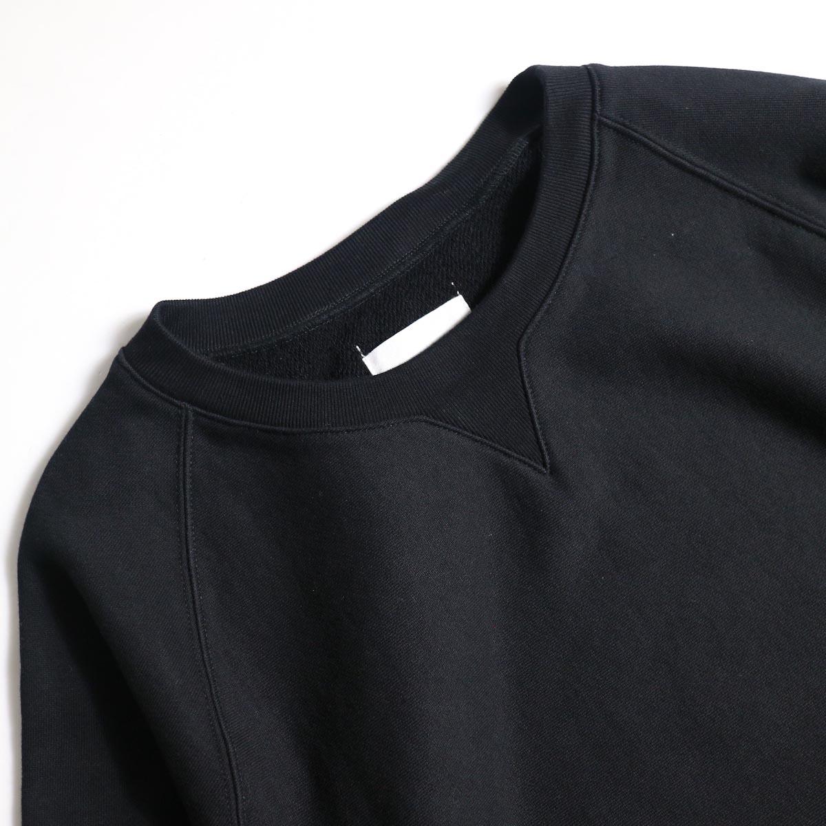 The Soloist / sc.0013bAW20 crew neck sweatshirt. (Black)クルーネック