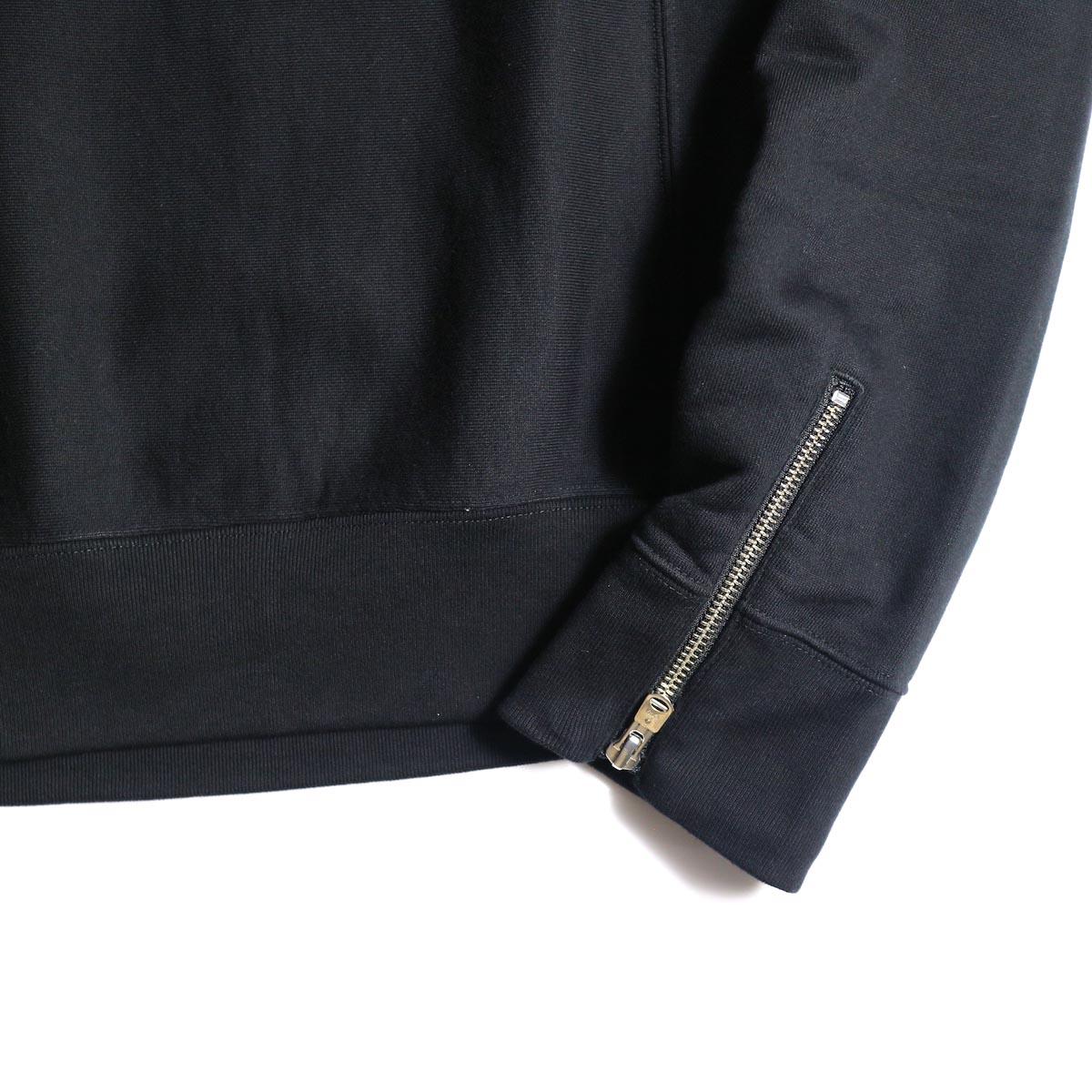 The Soloist / sc.0013bAW20 crew neck sweatshirt. (Black)袖