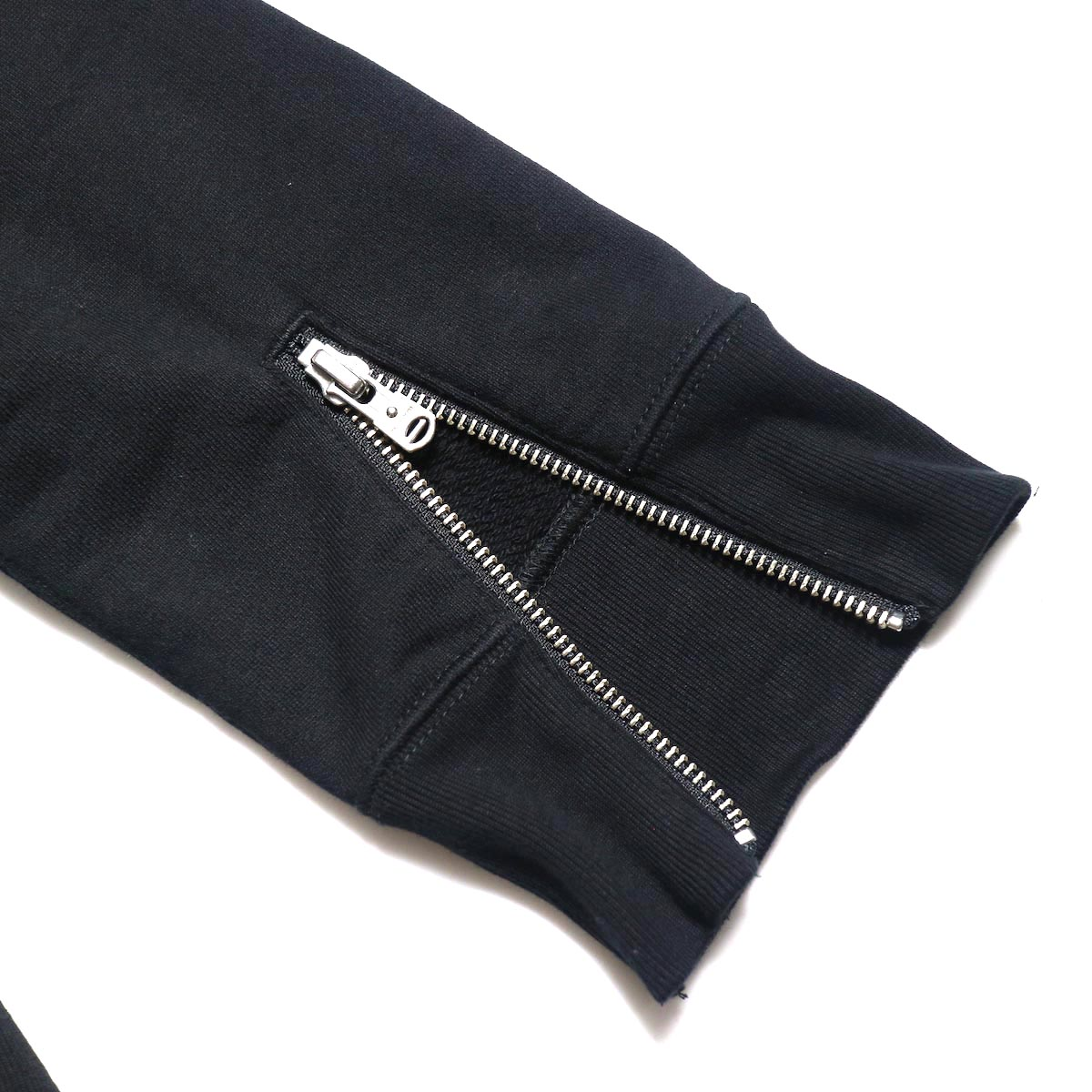 The Soloist / sc.0013bAW20 crew neck sweatshirt. (Black)袖zip