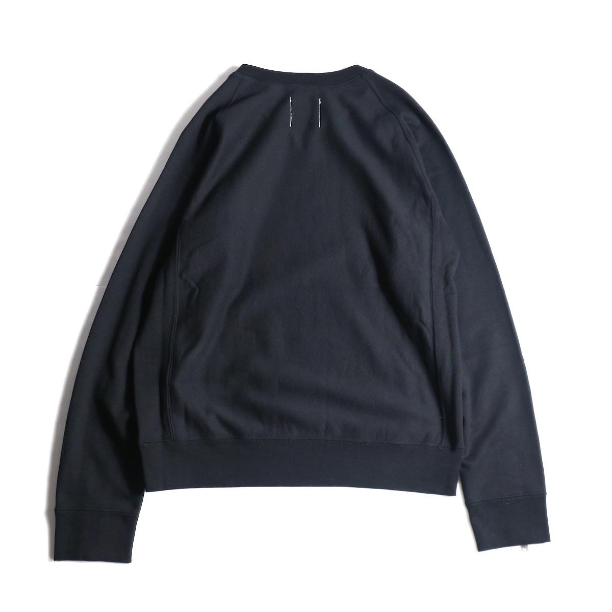 The Soloist / sc.0013bAW20 crew neck sweatshirt. (Black)背面