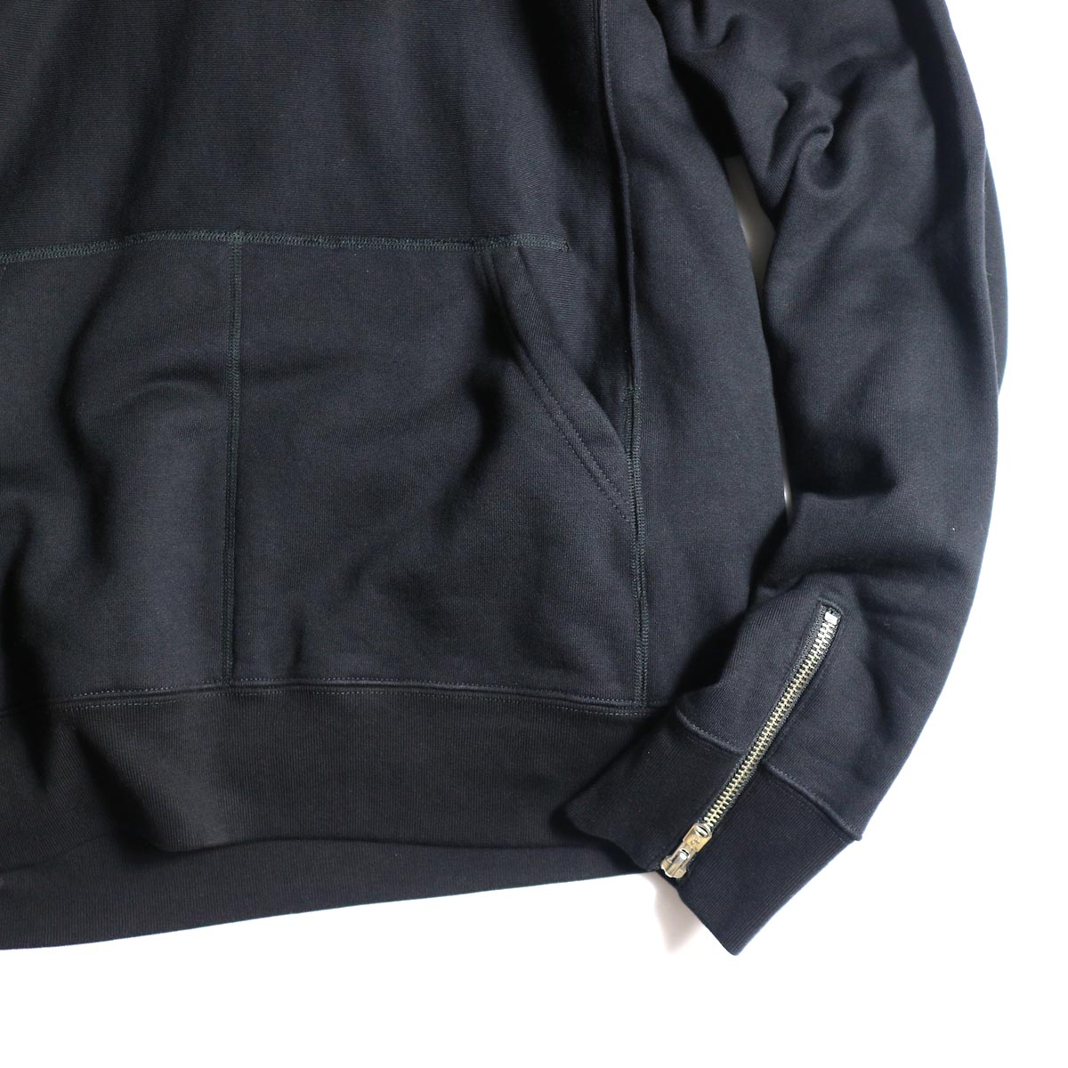 The Soloist / sc.0015bAW20 pullover hoodie. (Black)袖、裾