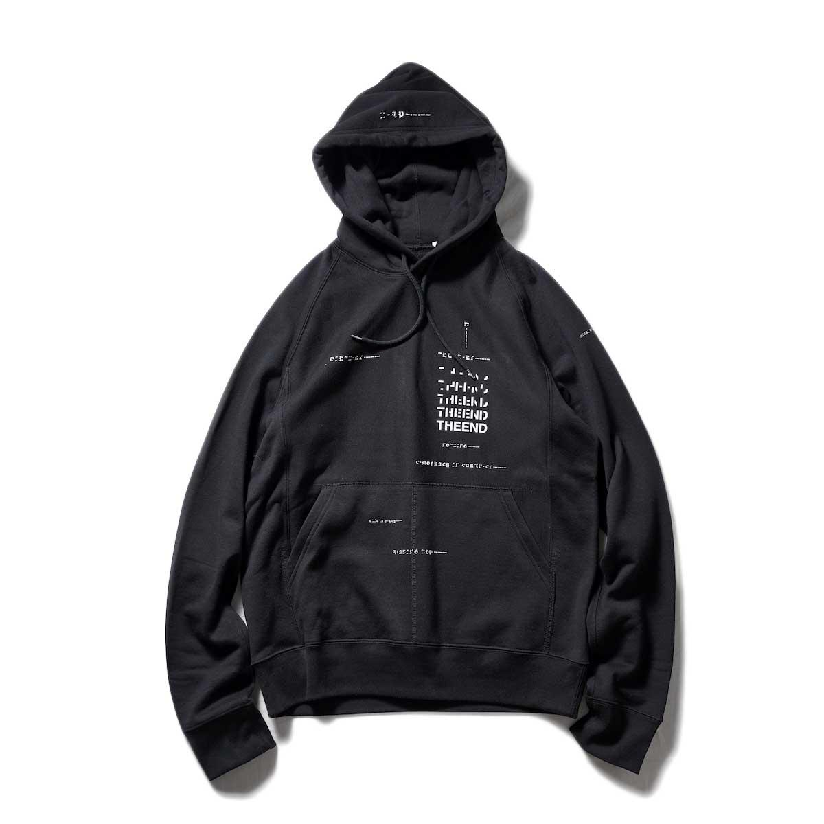The Soloist / sc.0021AW22 geometric morse code hoodie. (Black)