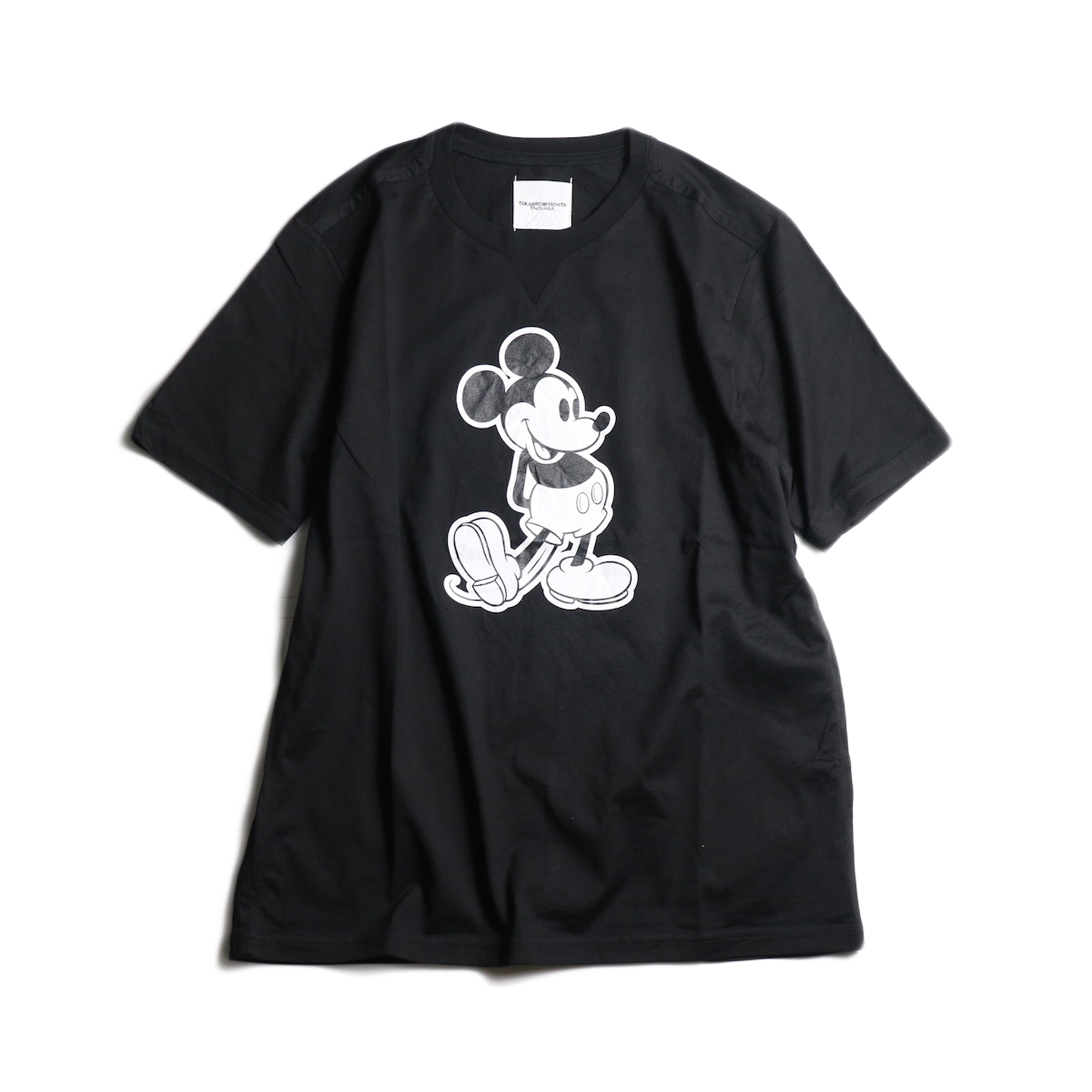 The Soloist / sc.0031bSS20 Mickey Mouse crew neck s/s tee. (monotone color Mickey Mouse)(Black×Monotone)