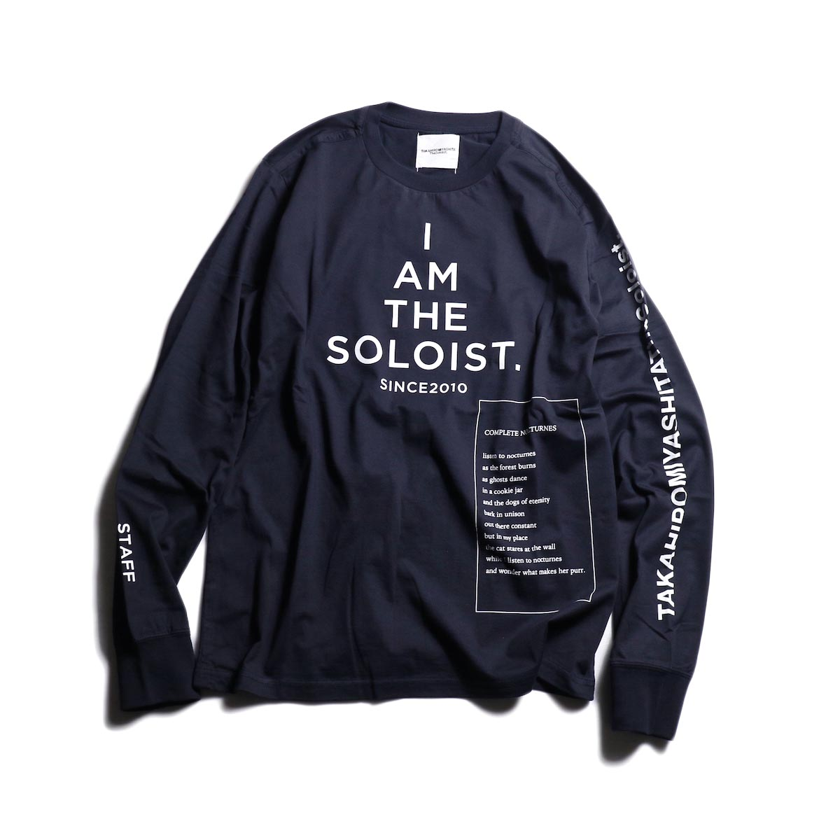 The Soloist / sc.0032AW19 BOOTLEG? STAFF-T (long sleeve) -Mid Night 正面