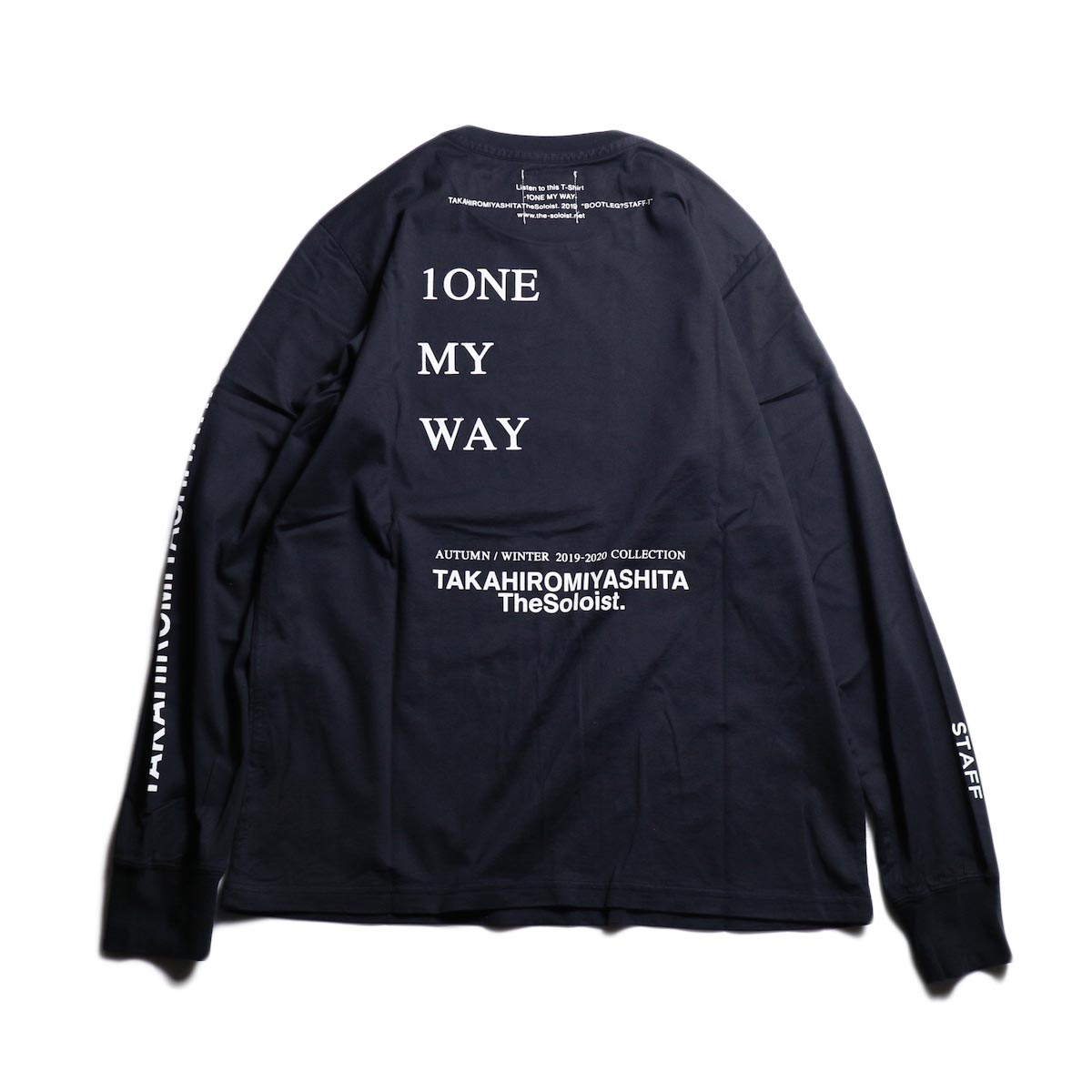 The Soloist / sc.0032AW19 BOOTLEG? STAFF-T (long sleeve) -Mid Night 背面