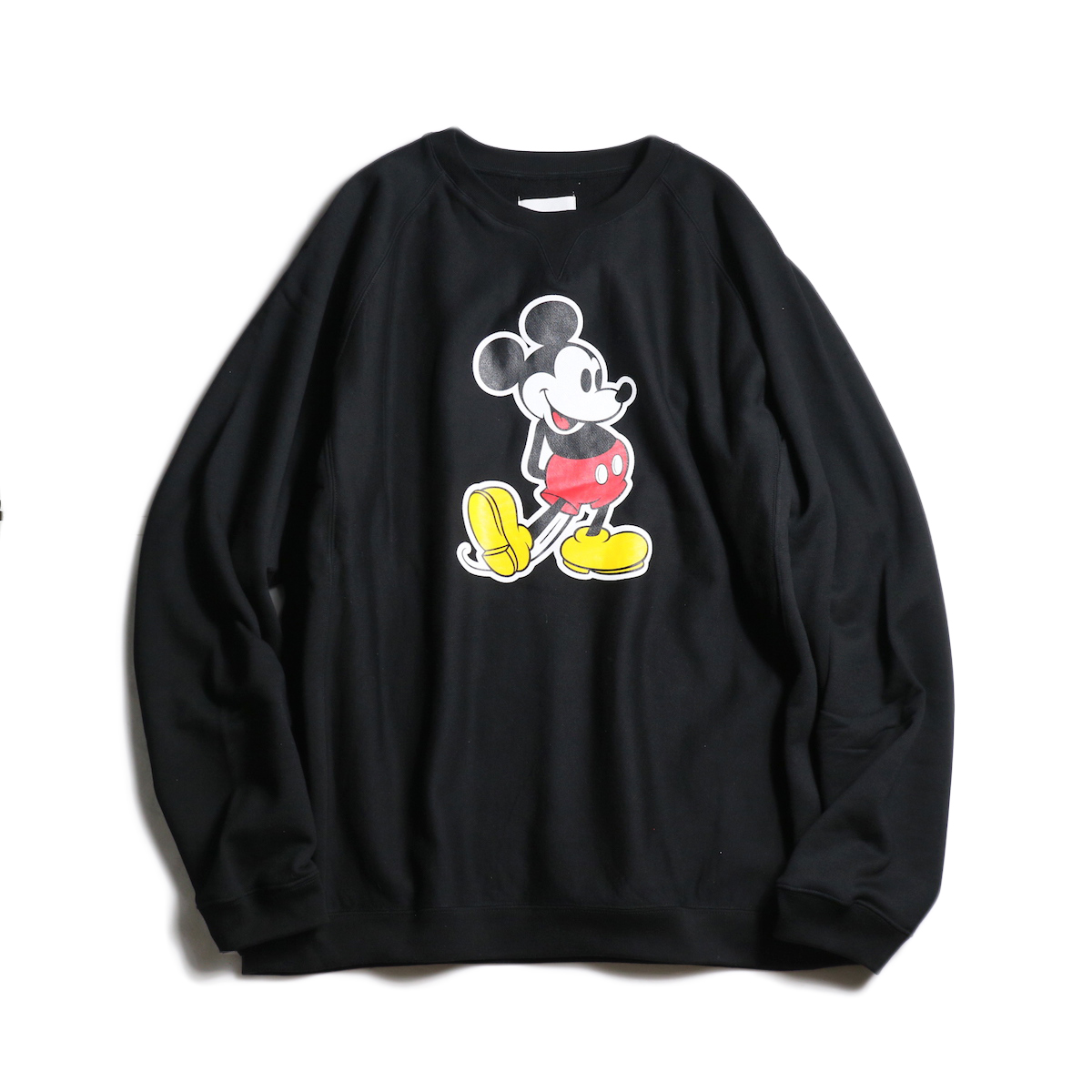 The Soloist / sc.0035aSS20 oversized Mickey Mouse crew neck sweatshirt. (original color Mickey Mouse)(Black×Original)