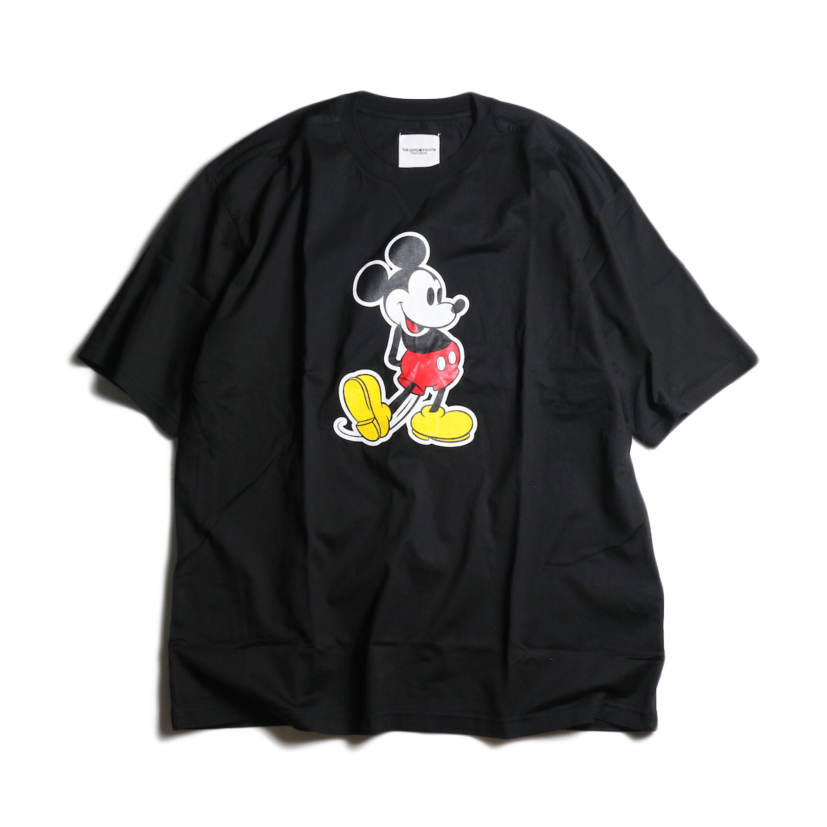 The Soloist / sc.0039aSS20 oversized Mickey Mouse crew neck s/s tee. (original color Mickey Mouse)(Black×Original)