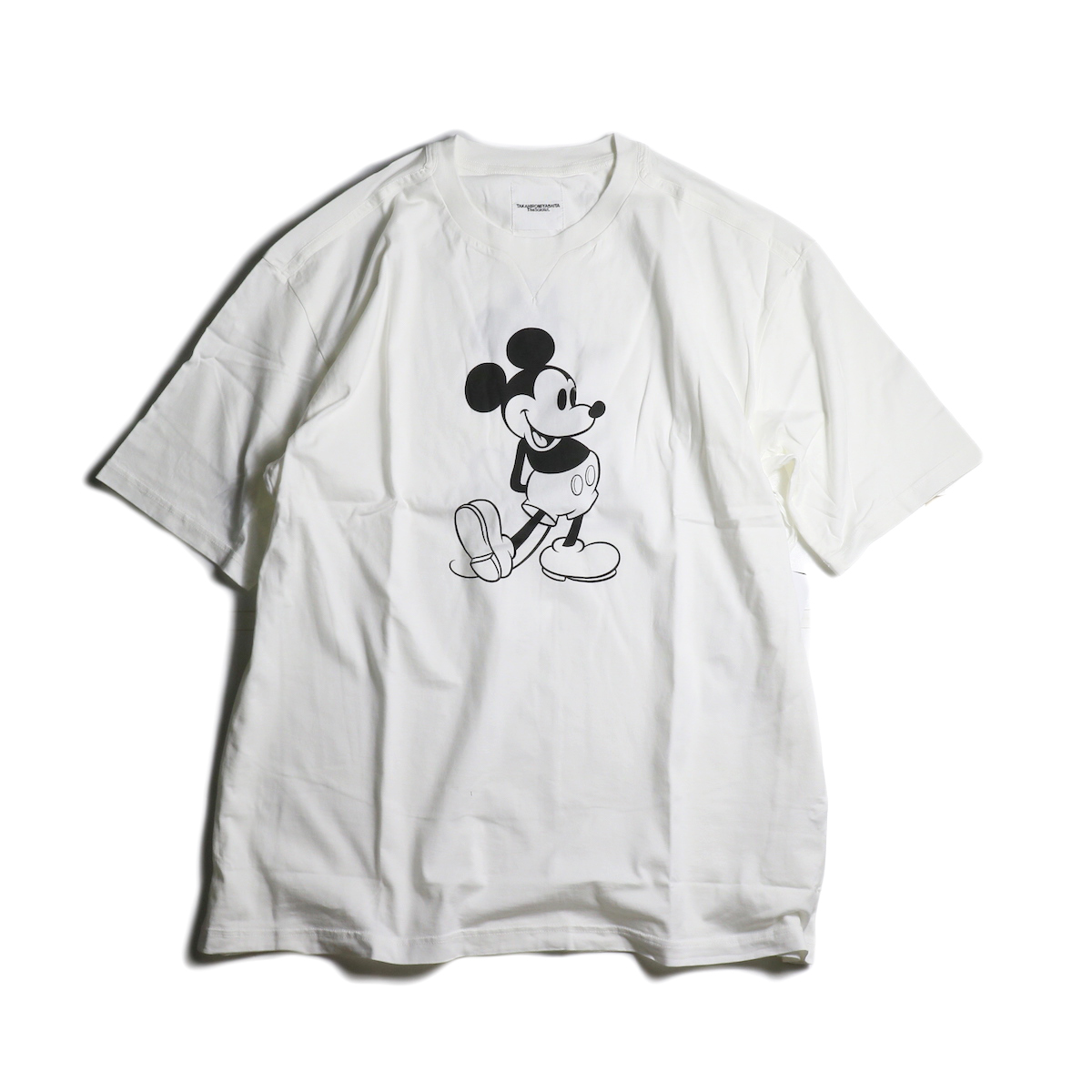 The Soloist / sc.0039bSS20 oversized Mickey Mouse crew neck s/s tee. (monotone color Mickey Mouse)(White×Monotone)