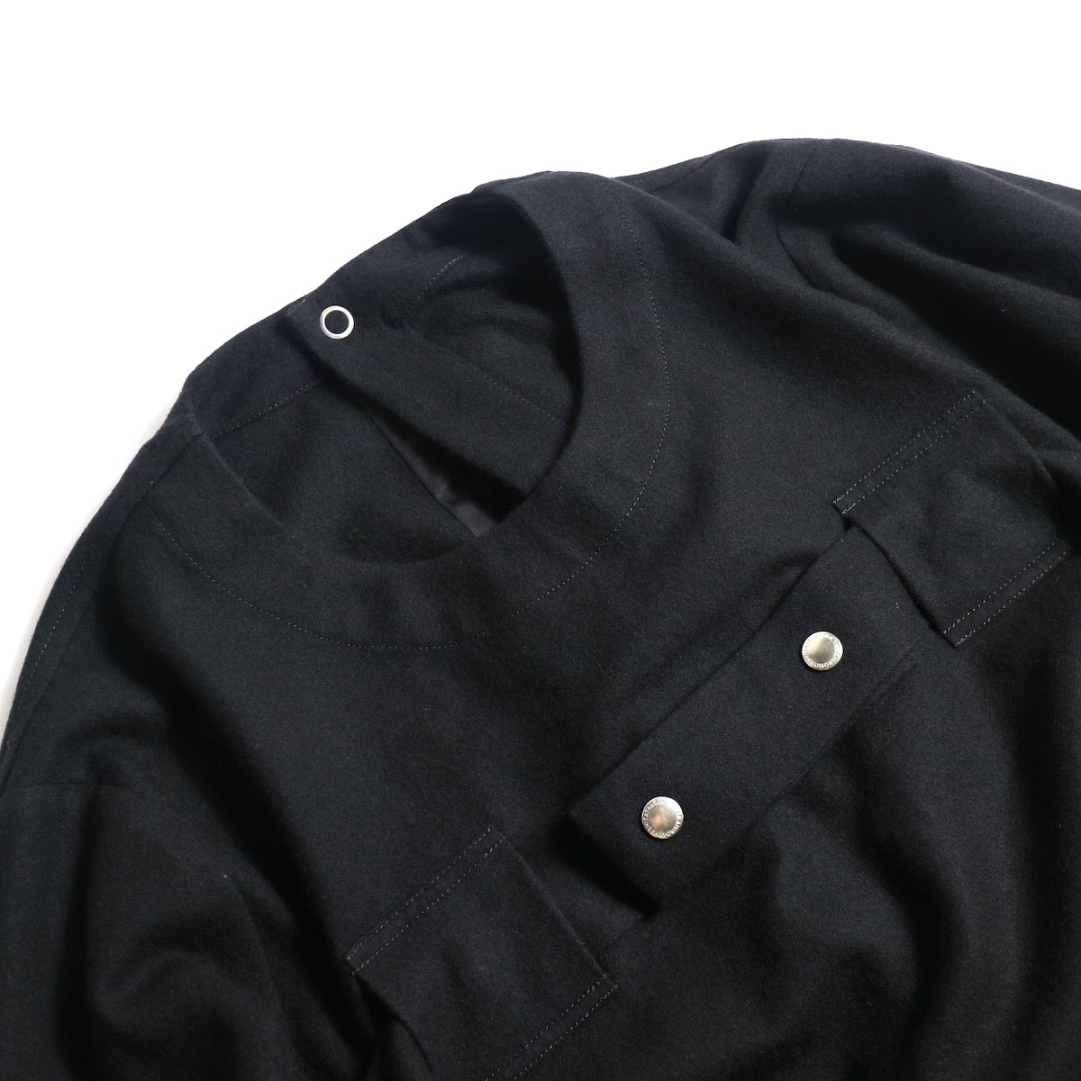 The Soloist / sj.0023b crew neck strapped medical jacket.クルーネック