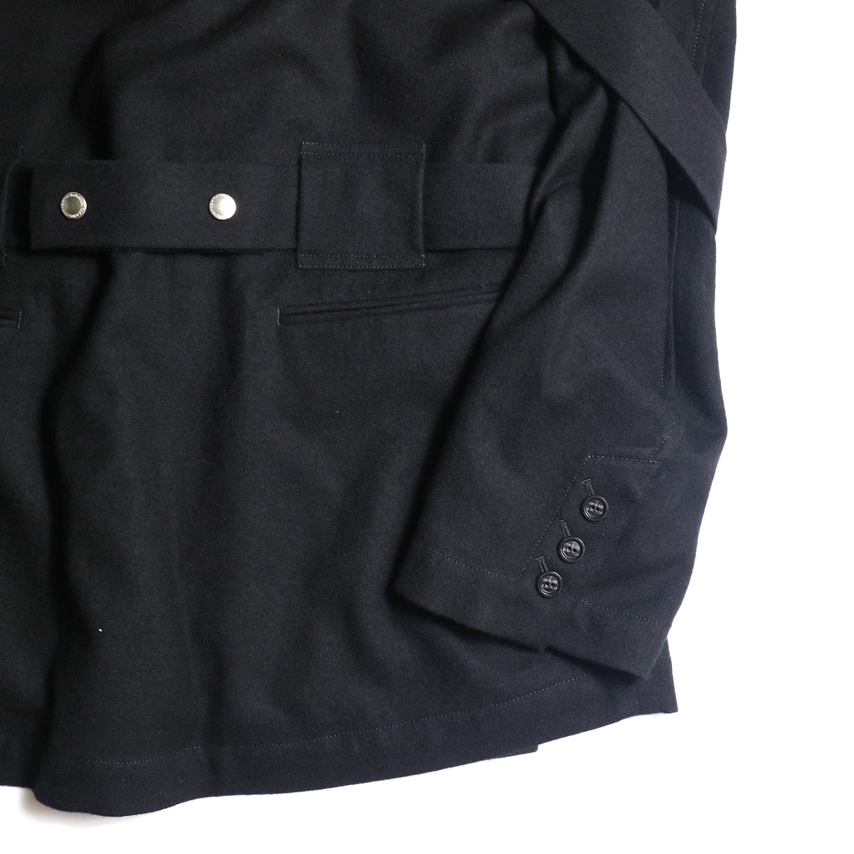 The Soloist / sj.0023b crew neck strapped medical jacket.本切羽