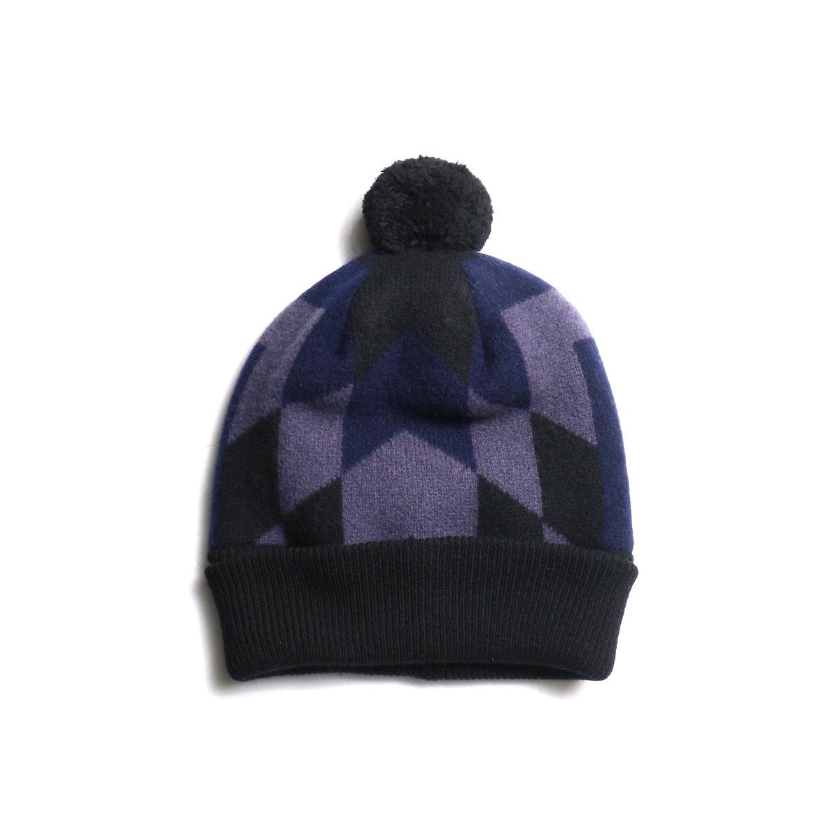 The Soloist / sk.0004AW19 ski cap. -Black × Mid Night × Eggplant