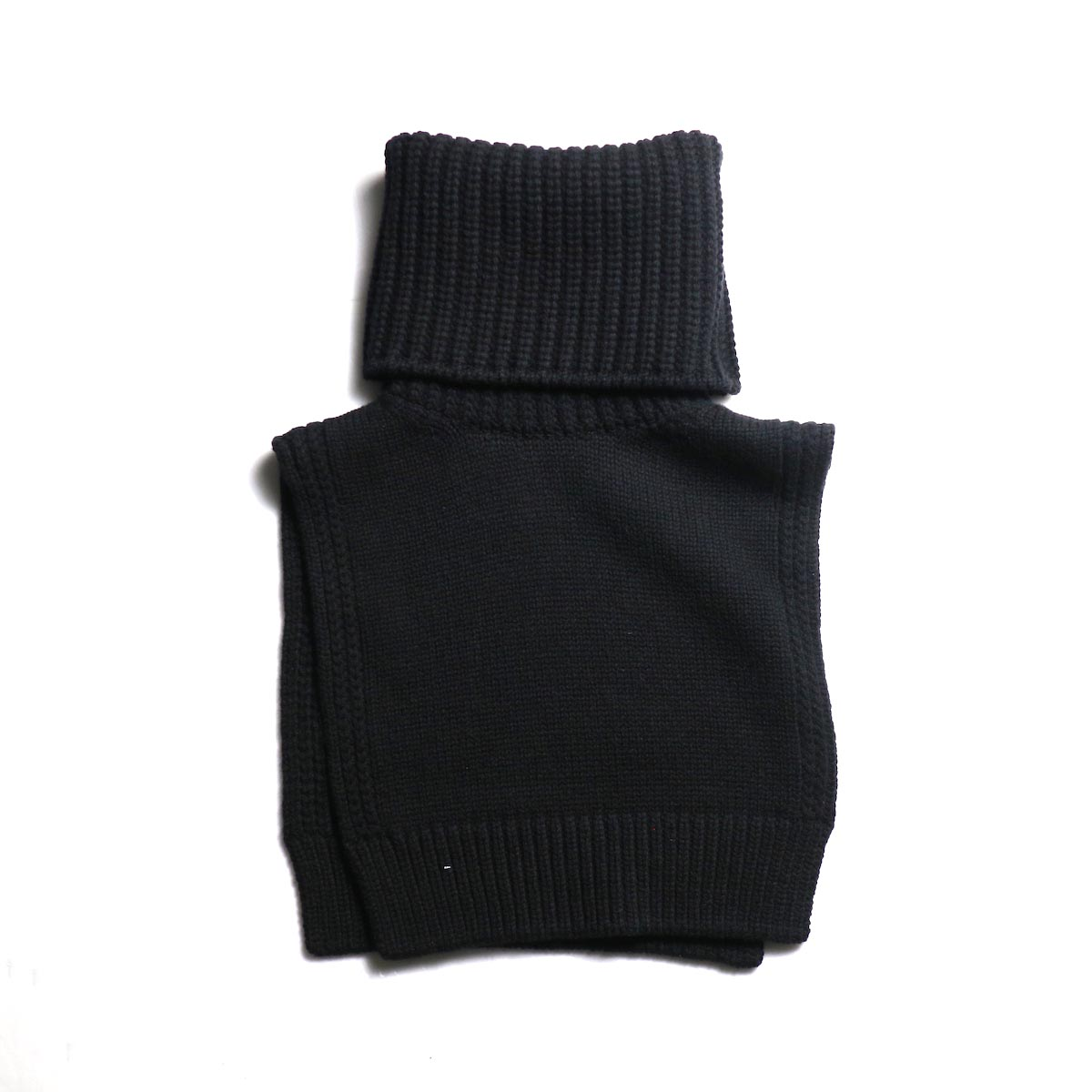 The Soloist / sk.0018AW19 turtleneck dickie. -Black 正面