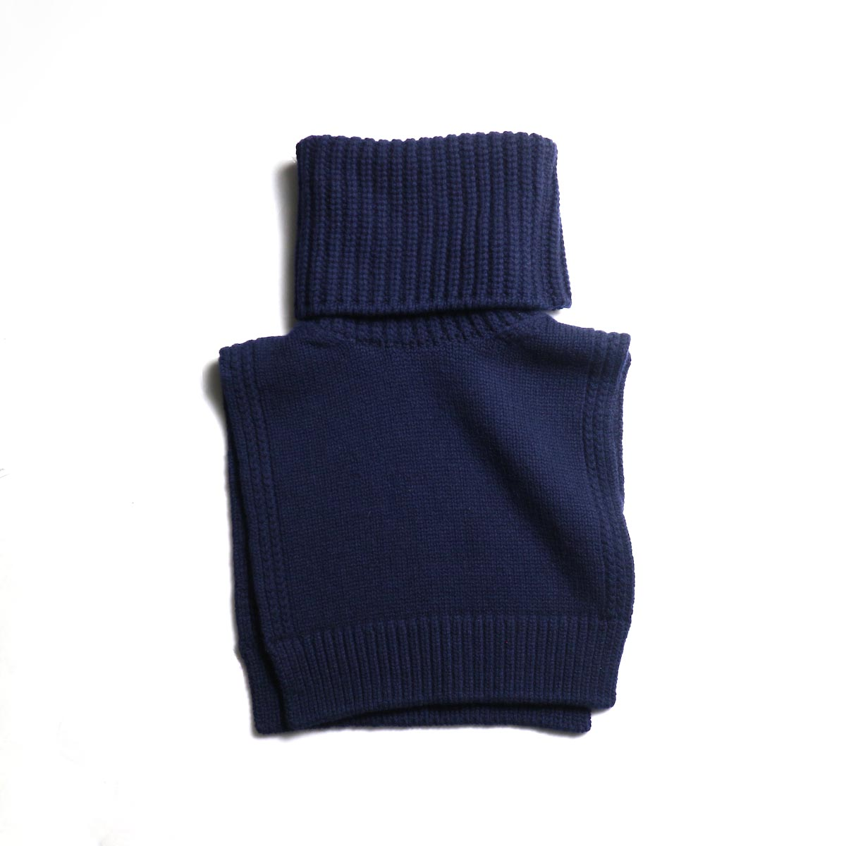 The Soloist / sk.0018AW19 turtleneck dickie. -Mid Night 正面