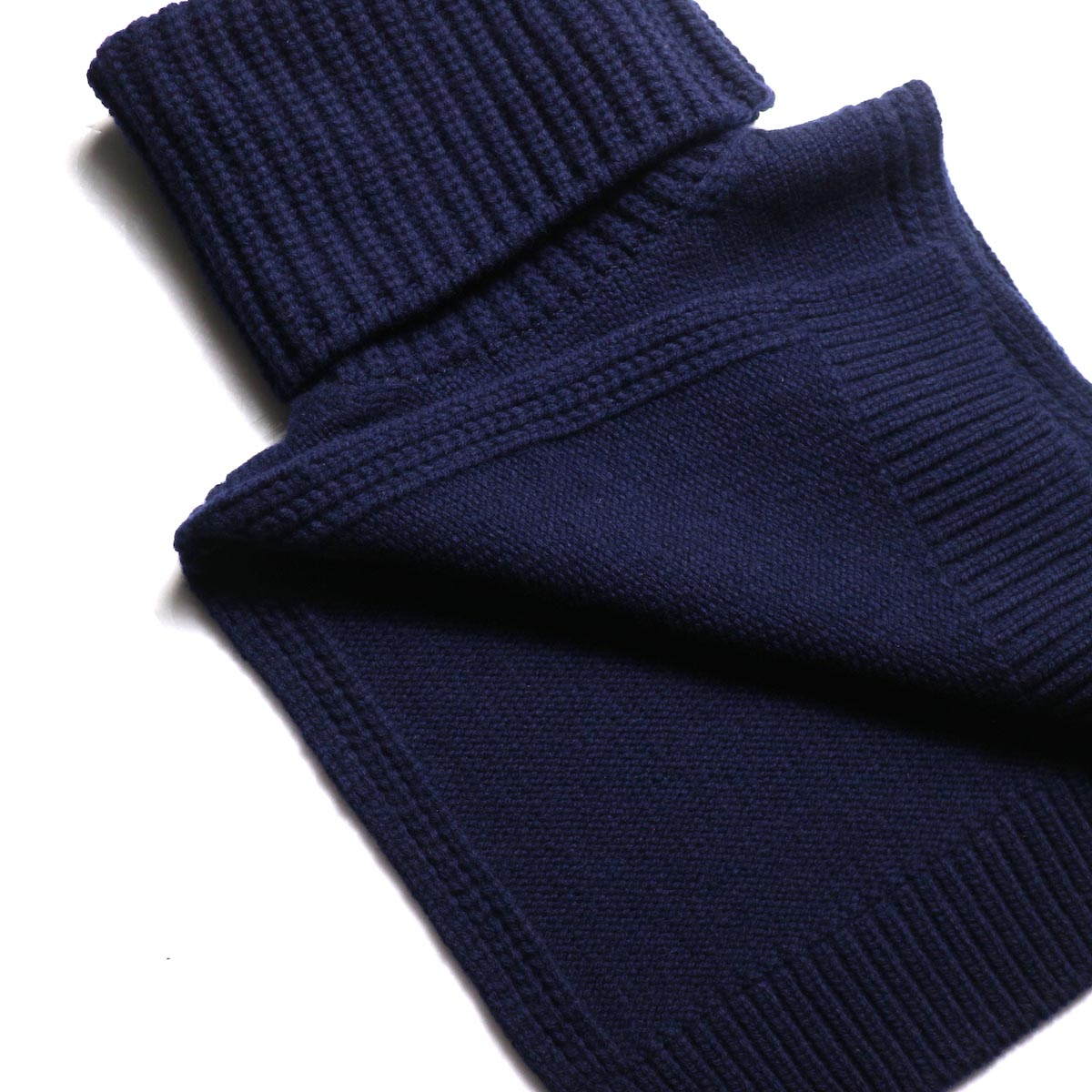 The Soloist / sk.0018AW19 turtleneck dickie. -Mid Night 編地