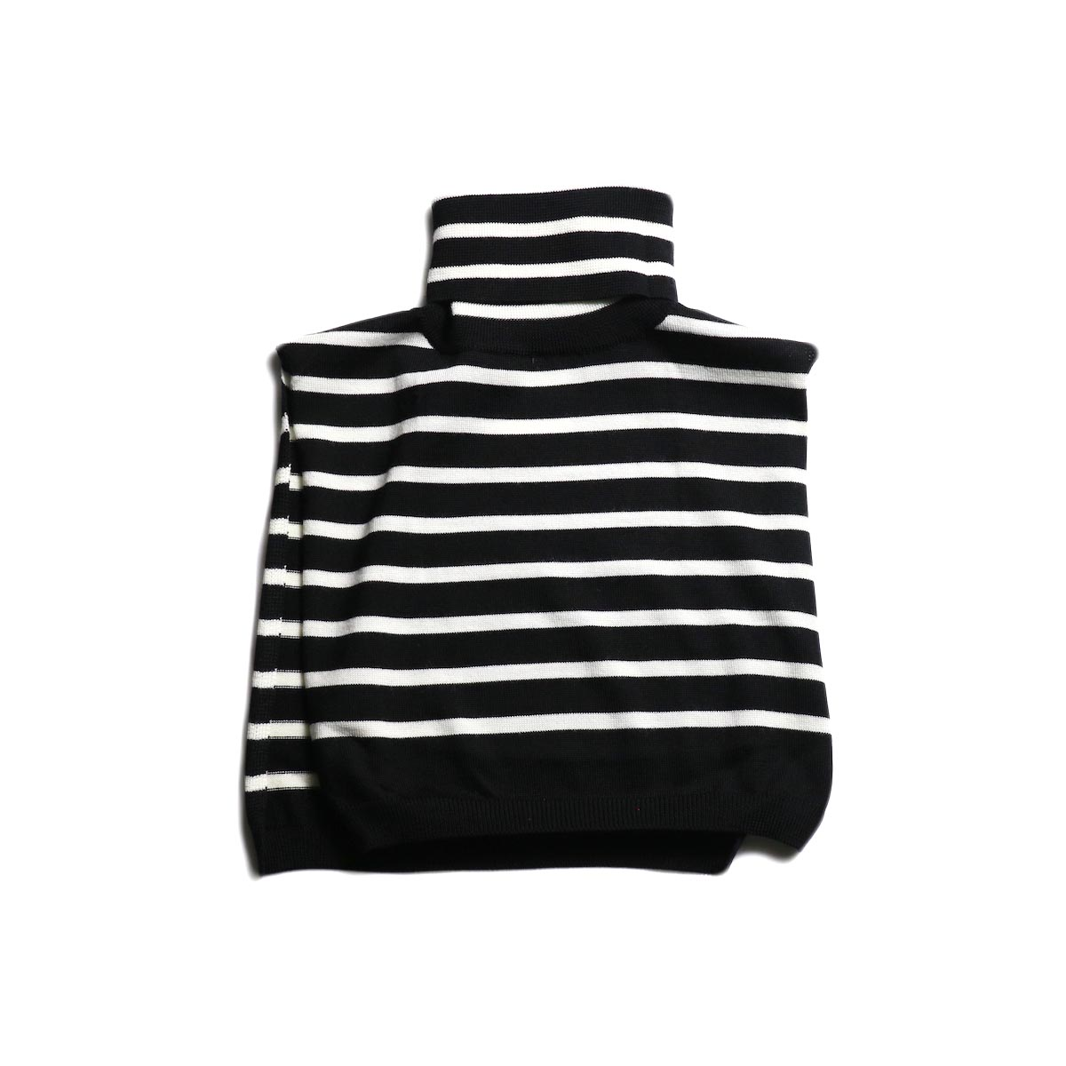 The Soloist / sk.0024AW19 turtleneck dickie. -Black × White 正面