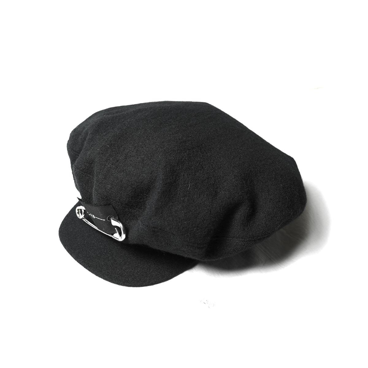 The Soloist / ska.0002AW21 huge marine cap. (Black)