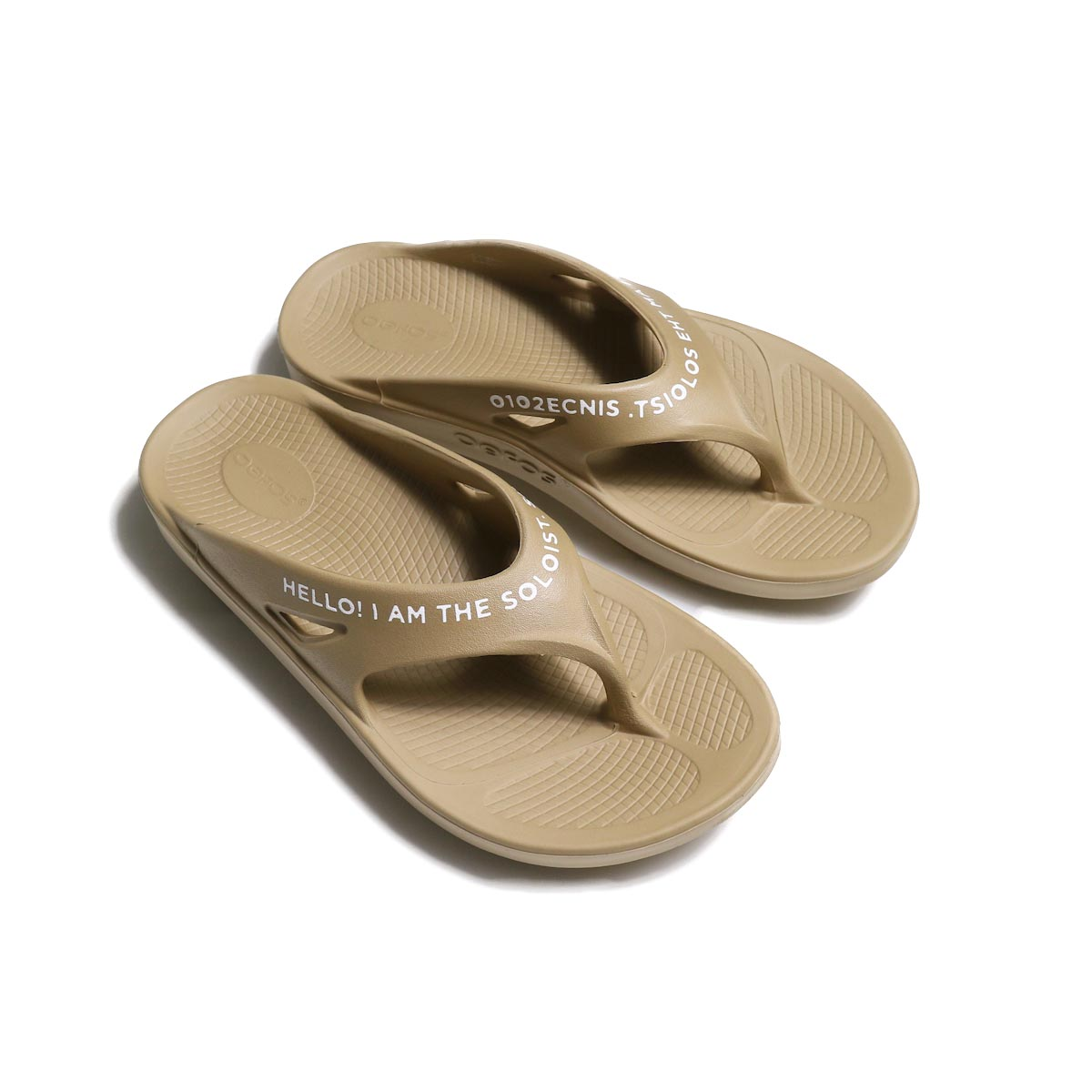 The Soloist / sof.0007 signature flip-flop. (beige×white)