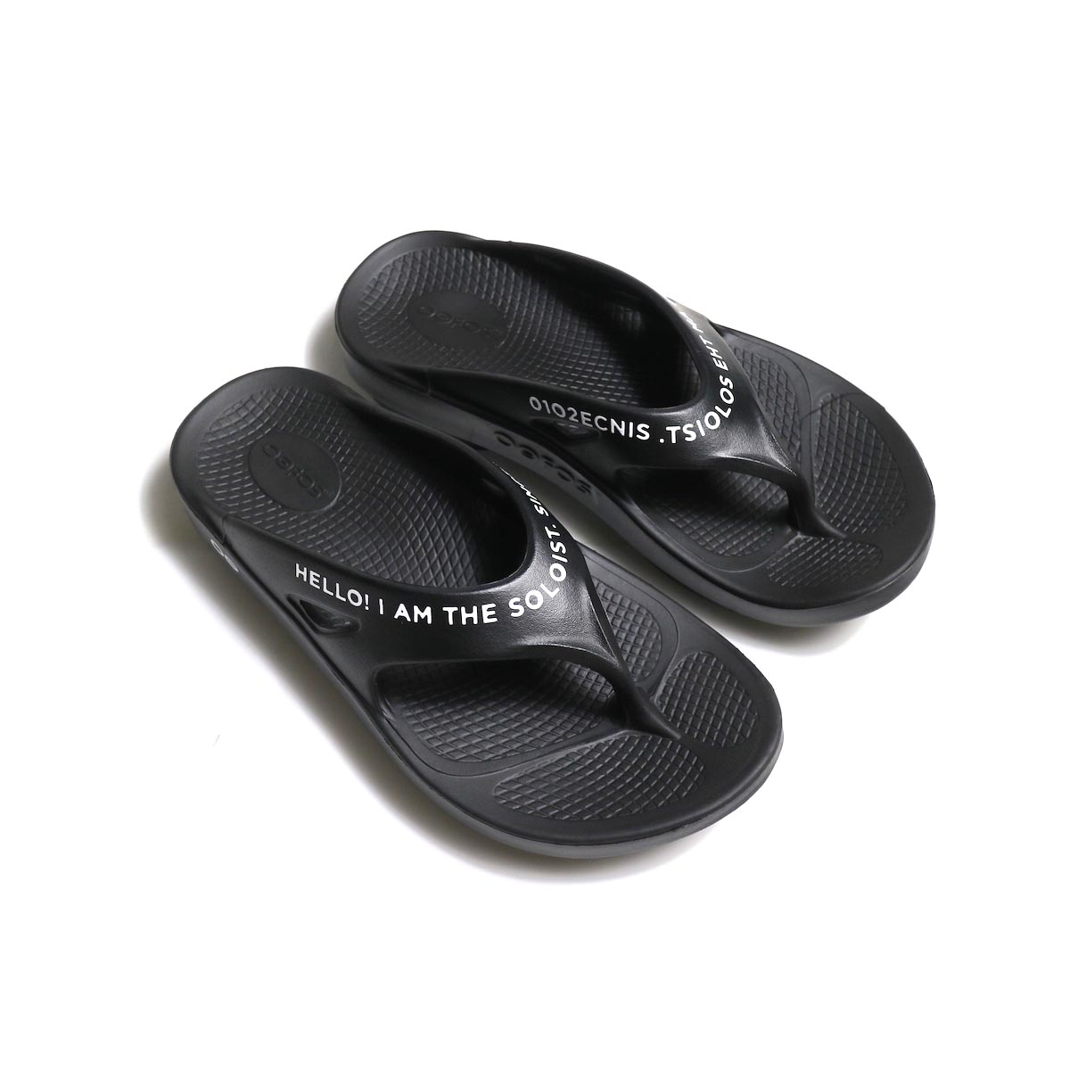 The Soloist / sof.0007 signature flip-flop. (black×white)トップ