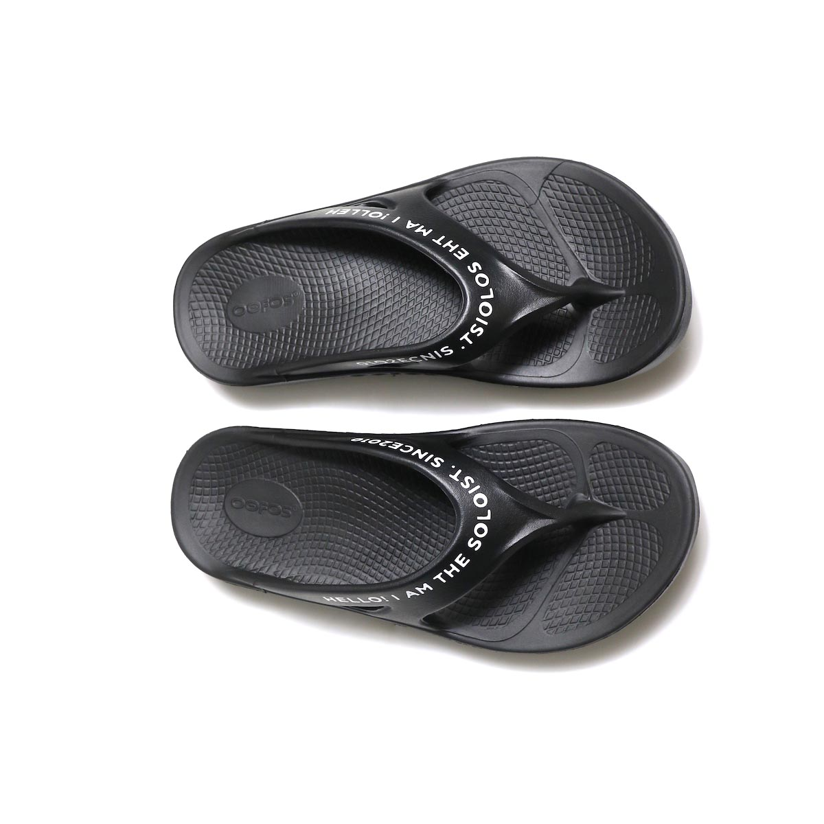 The Soloist / sof.0007 signature flip-flop. (black×white)上から