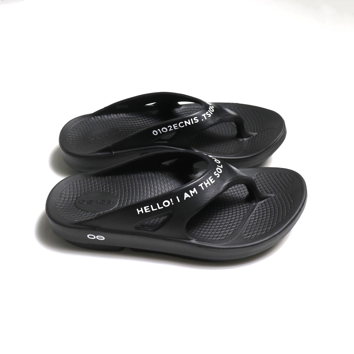 The Soloist / sof.0007 signature flip-flop. (black×white)サイド
