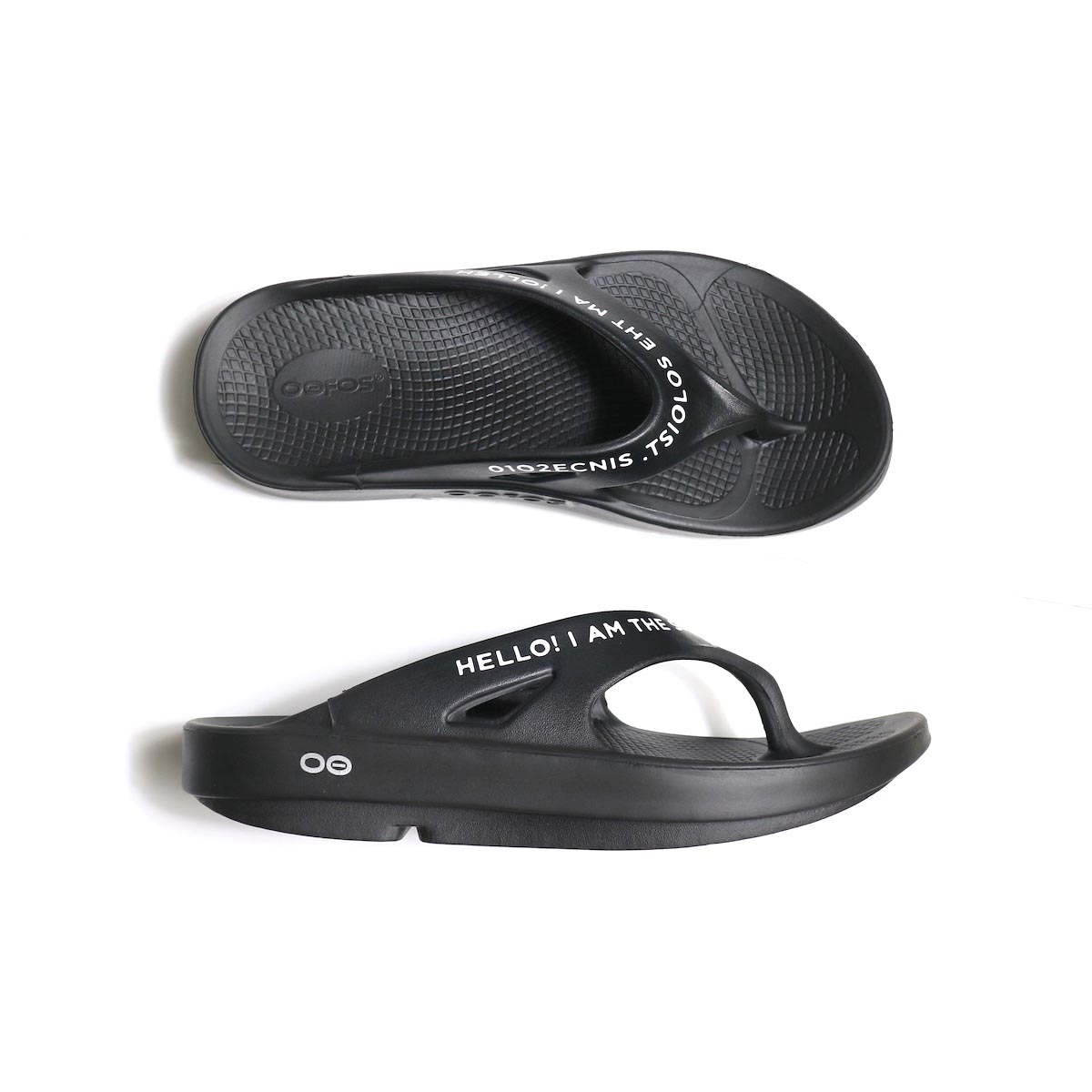 The Soloist / sof.0007 signature flip-flop. (black×white)側面から