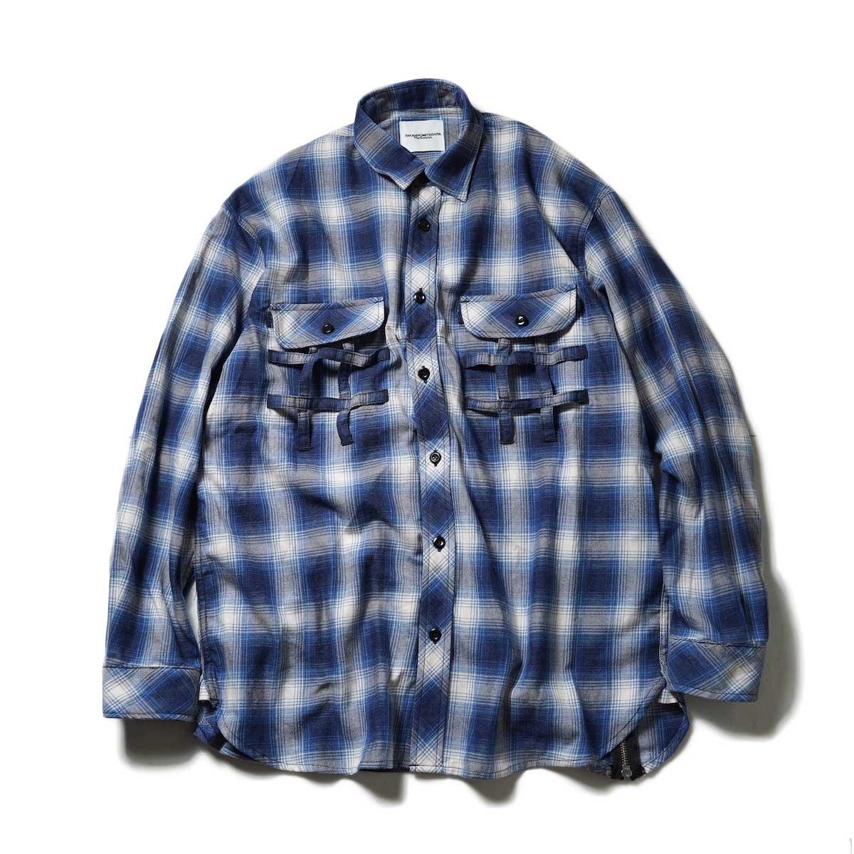The Soloist / ss.0012 Side Back Zip Not Work Shirt? (Blue)