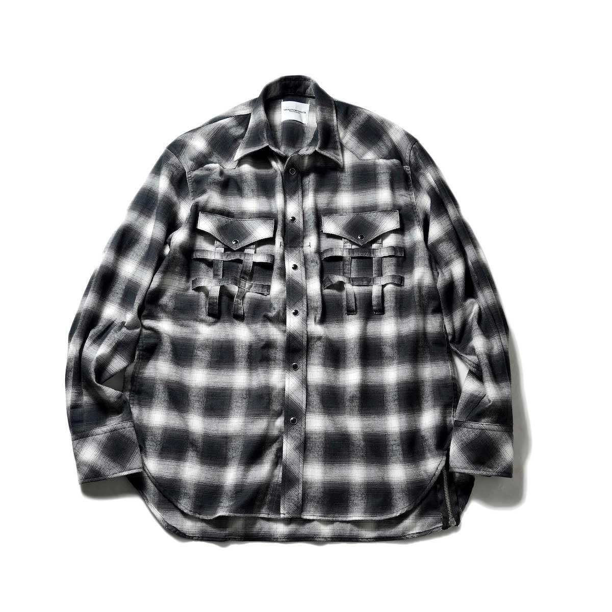 The Soloist / ss.0013 Side Back Zip Not Western Shirt? (Black)