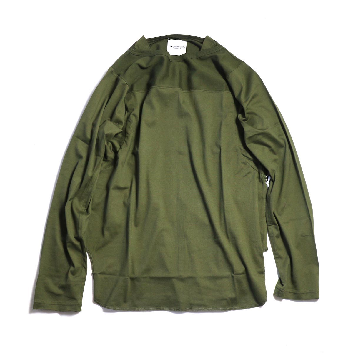 The Soloist / swc.0022aAW18 football l/s tee. -Olive