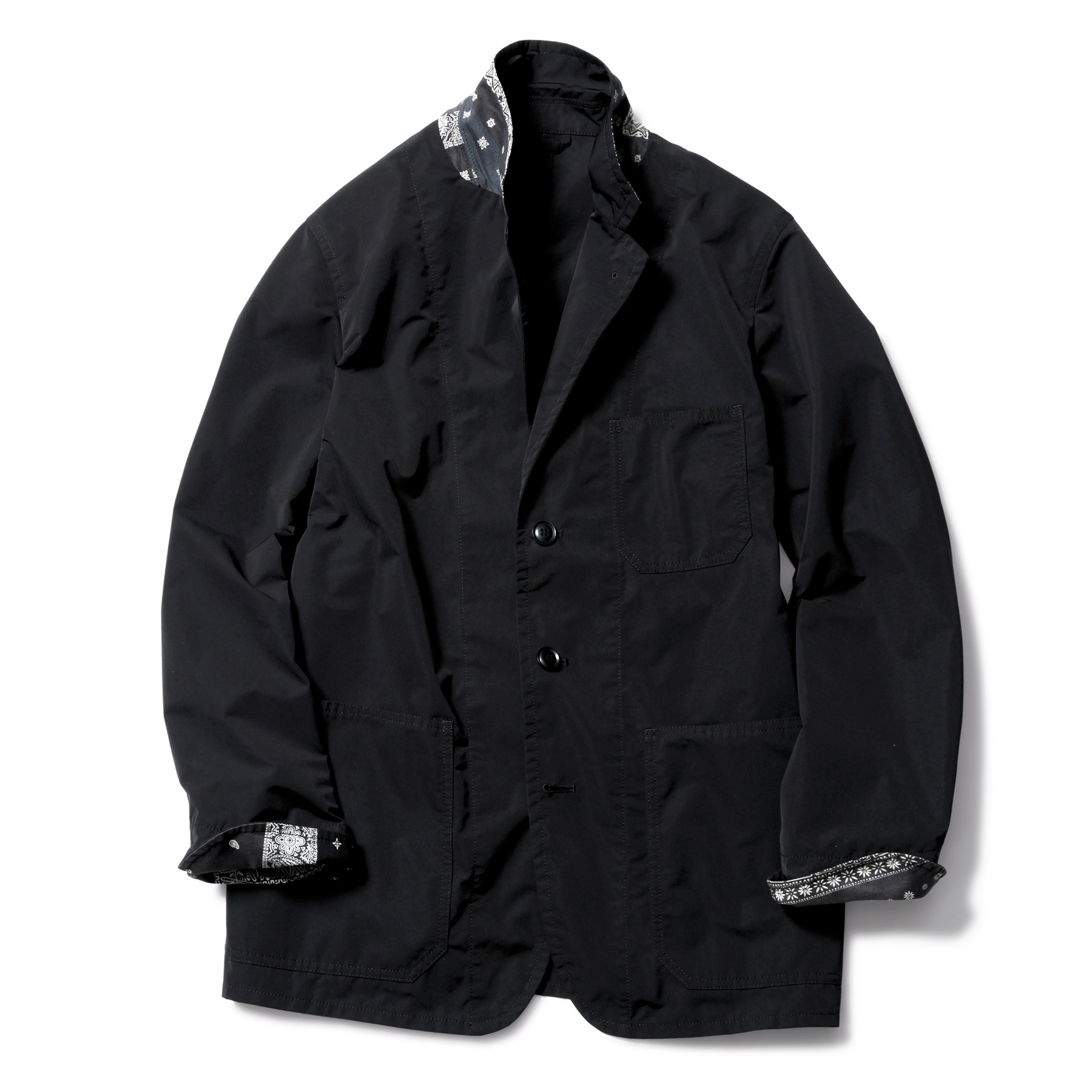 SOPHNET. / 3 BUTTON JACKET by SOLOTEX -BLACK