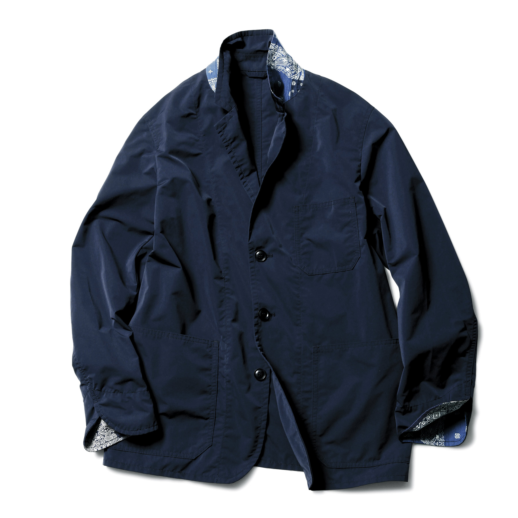 SOPHNET. / 3 BUTTON JACKET by SOLOTEX -NAVY