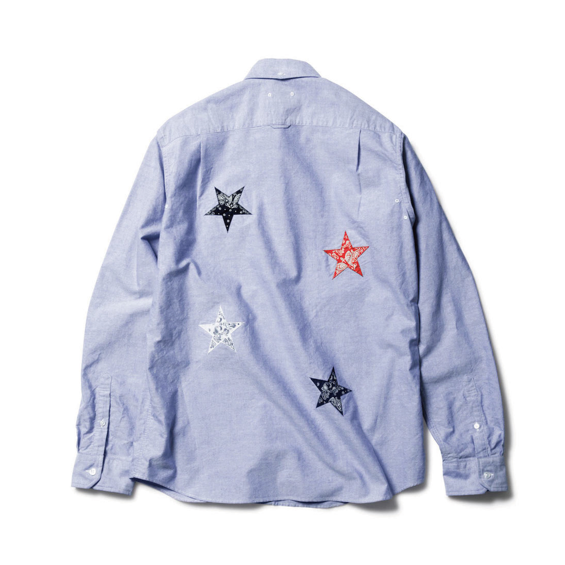SOPHNET. / BANDANA STAR APPLIQUE B.D SHIRT -NAVY