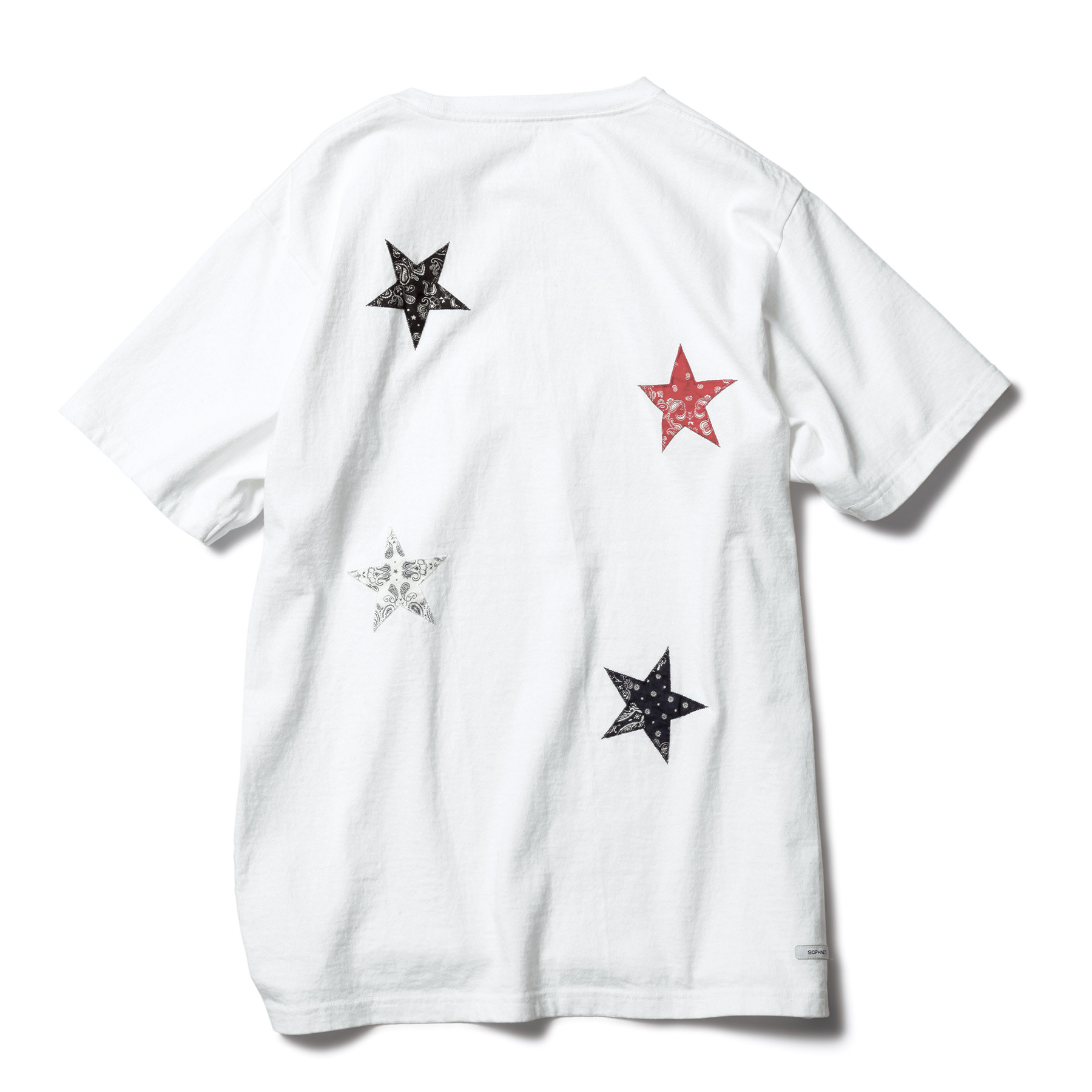 SOPHNET. / BANDANA STAR APPLIQUE TEE -white
