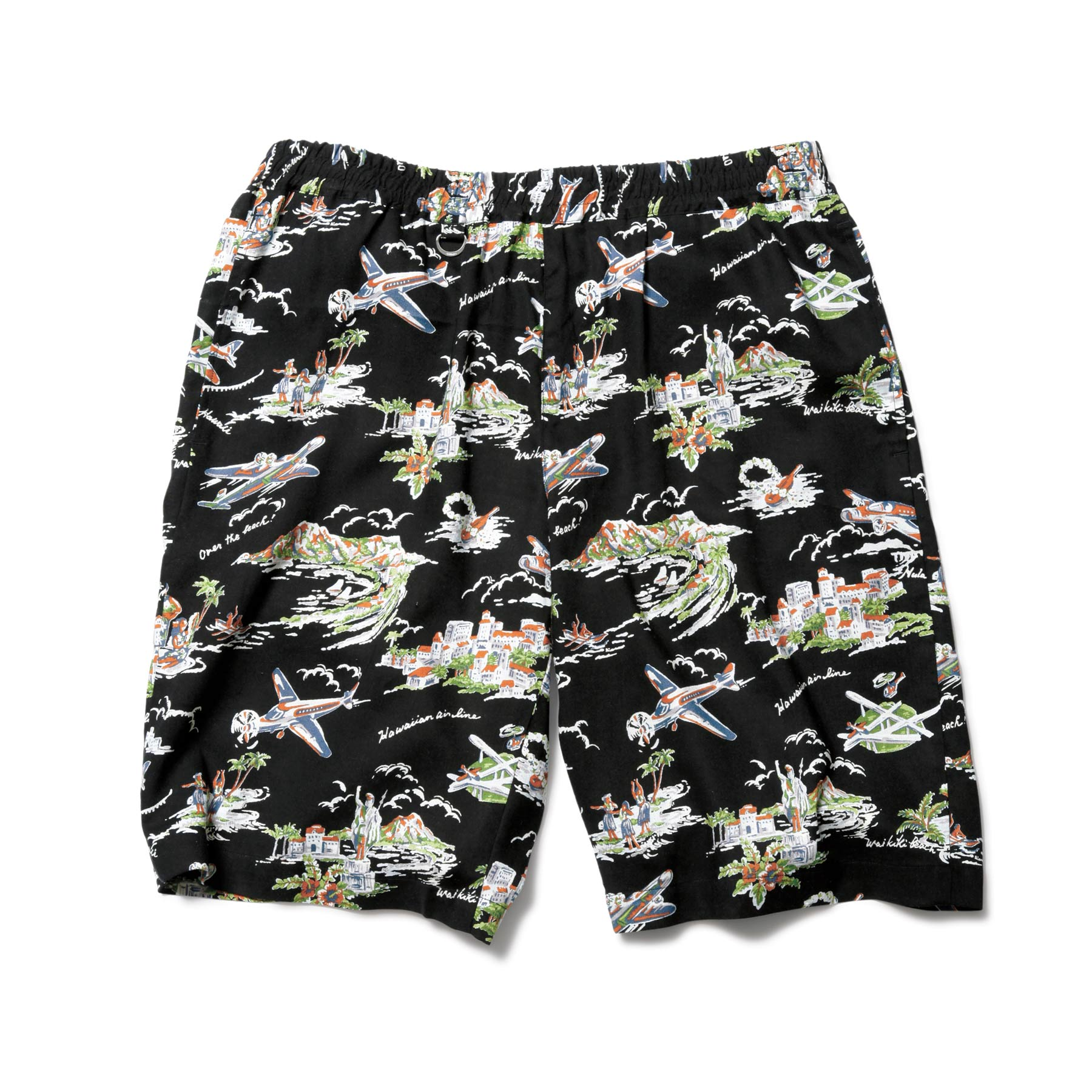 SOPHNET. / PATTERN EASY SHORTS -black