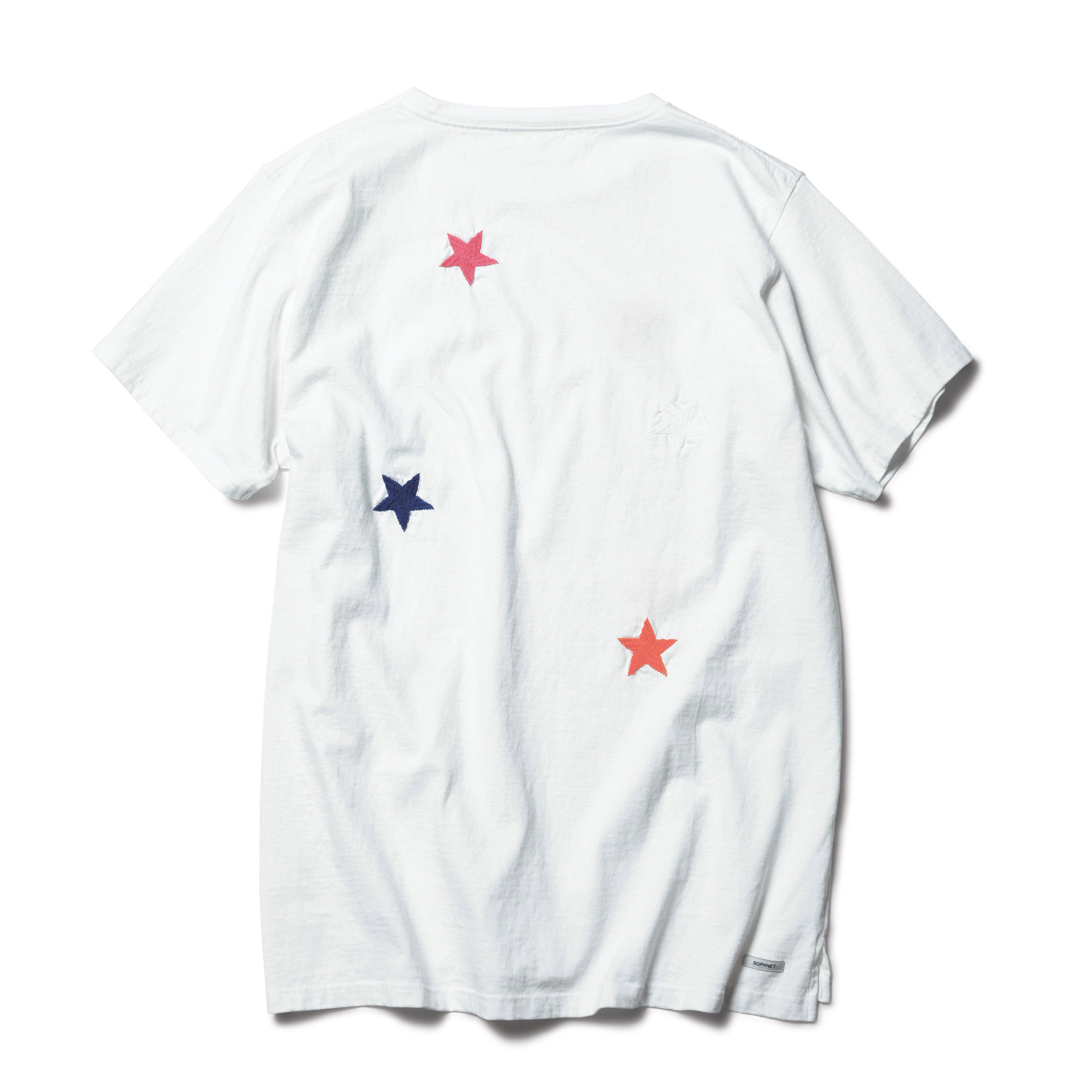 SOPHNET. / STAR EMBROIDERY BIG TEE -white