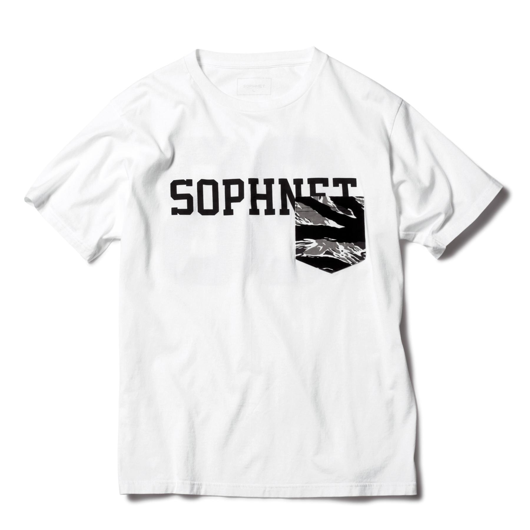 SOPHNET. / CAMOUFLAGE POCKET TEE -white