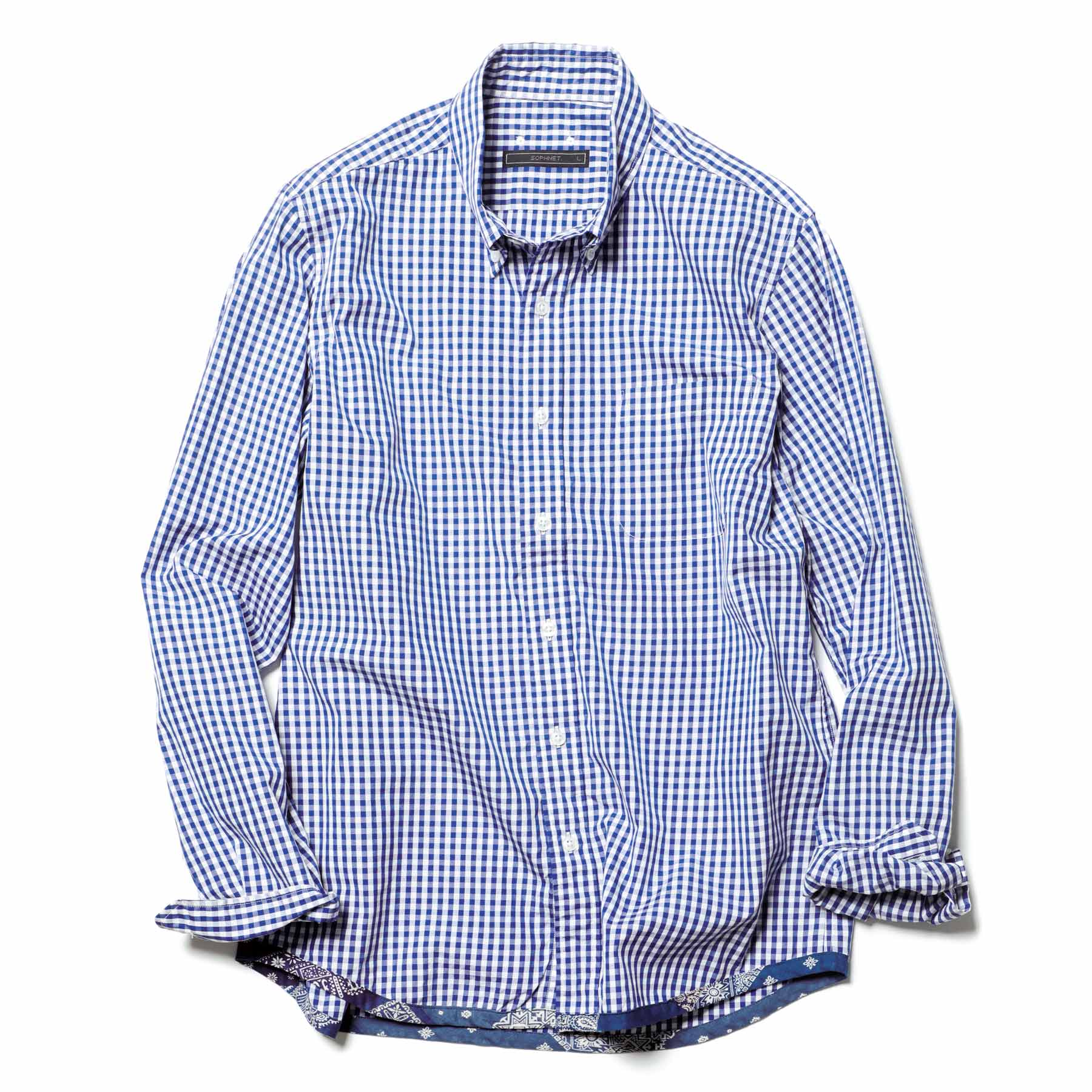 SOPHNET. / PIPING B.D SHIRT -Navy