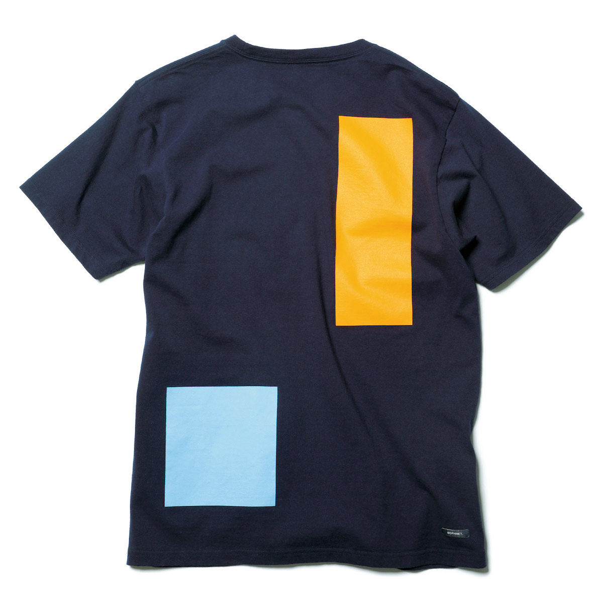 SOPHNET. / SQUARE COLOR BLOCK TEE -Navy