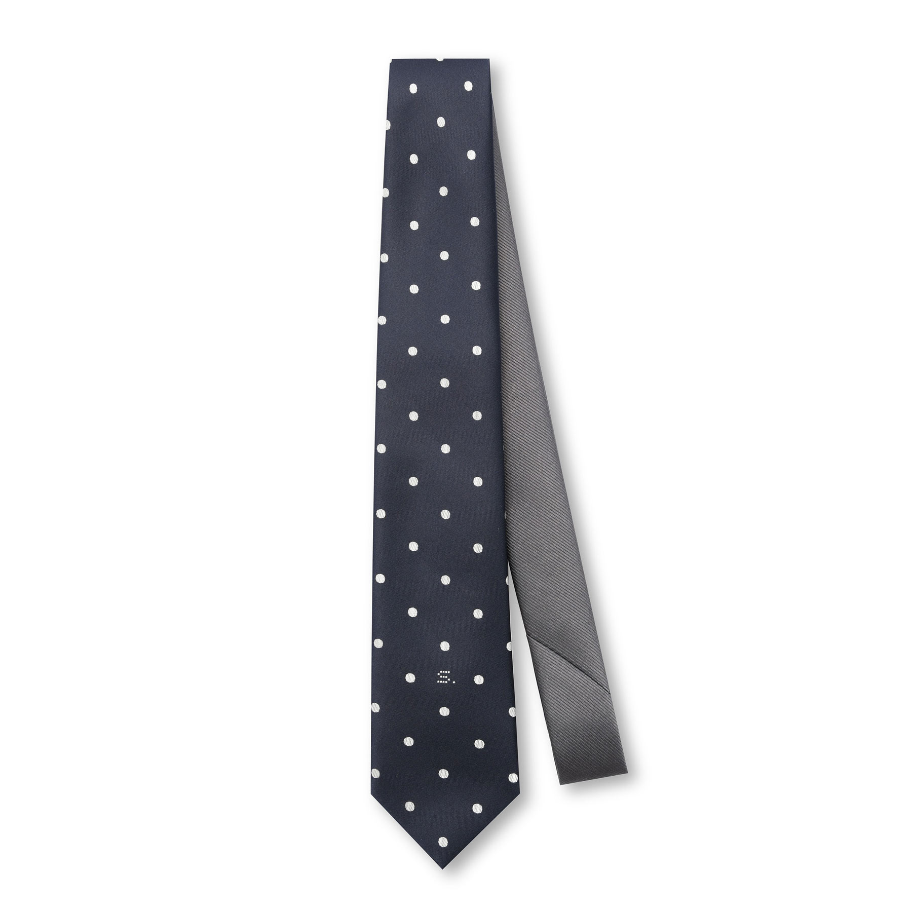 SOPHNET. / DOT REVERSIBLE NECKTIE -Navy