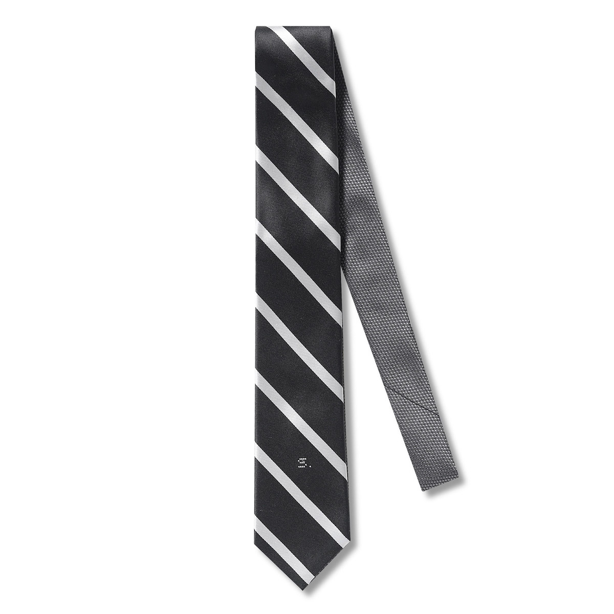 SOPHNET. / 2WAY REGIMENTAL NECKTIE -Black