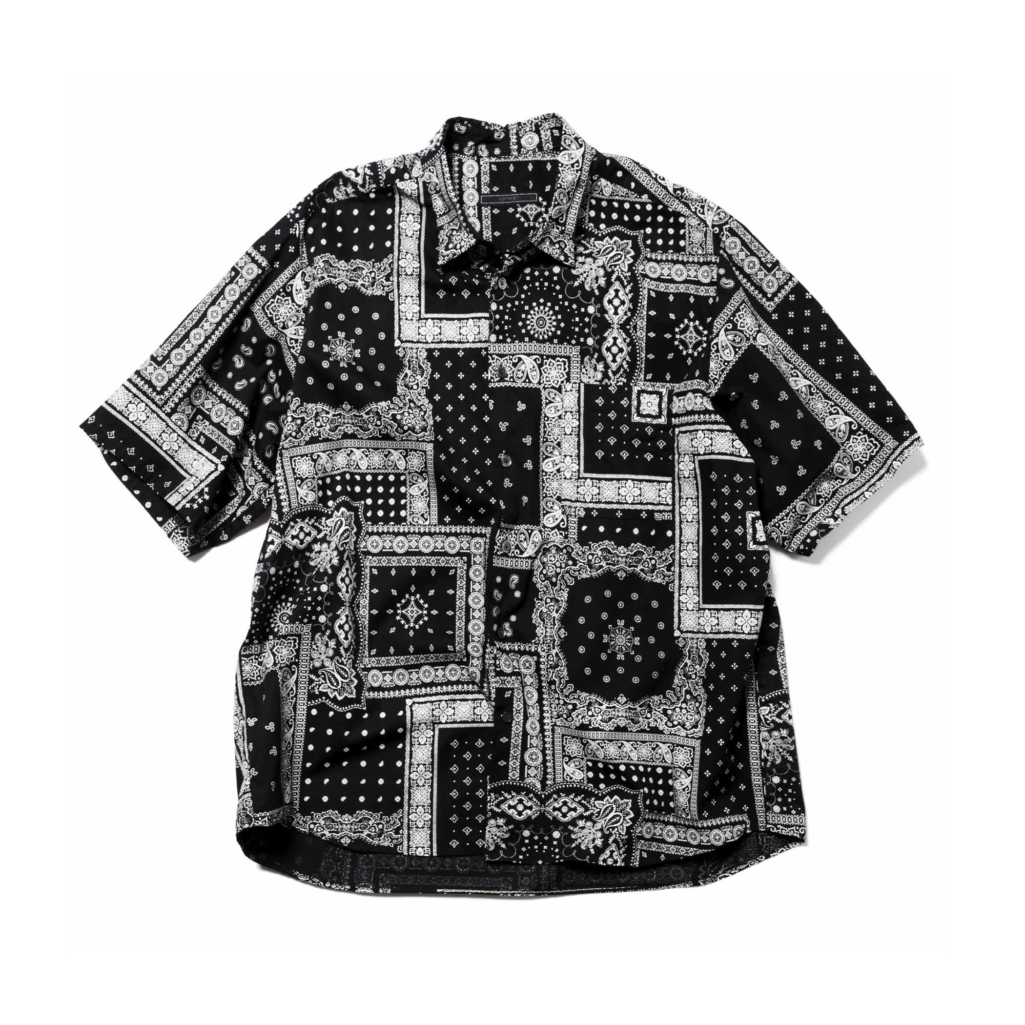 SOPHNET. / S/S BAGGY REGULAR COLLAR SHIRT (Black)