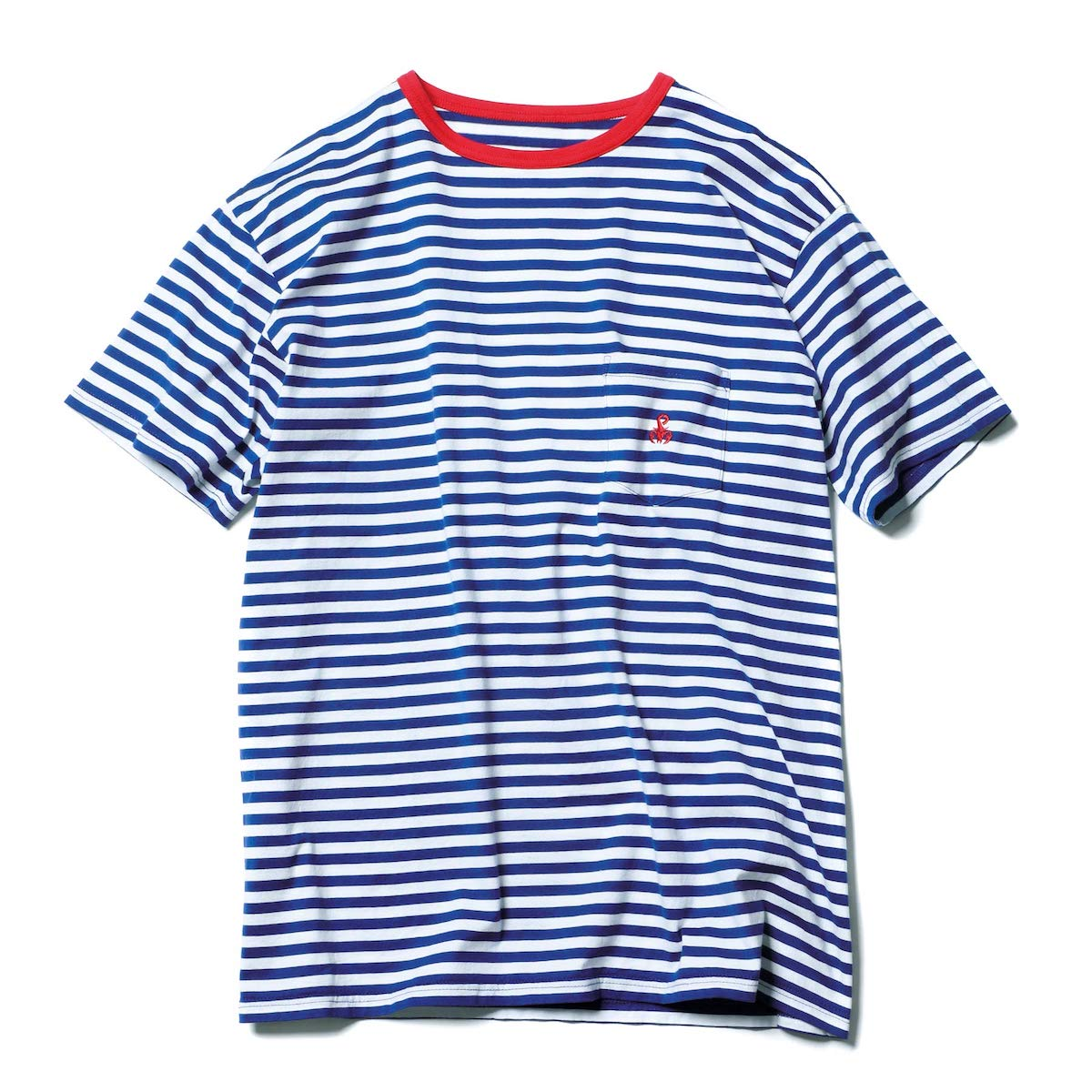 SOPHNET. / BORDER POCKET TEE -Blue