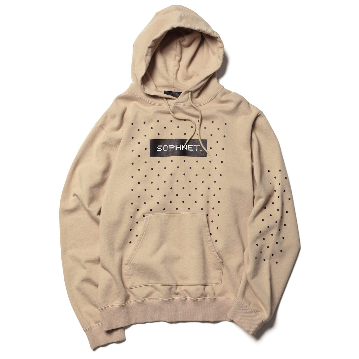 SOPHNET. / AUTHENTIC LOGO DOT HOODIE -Beige