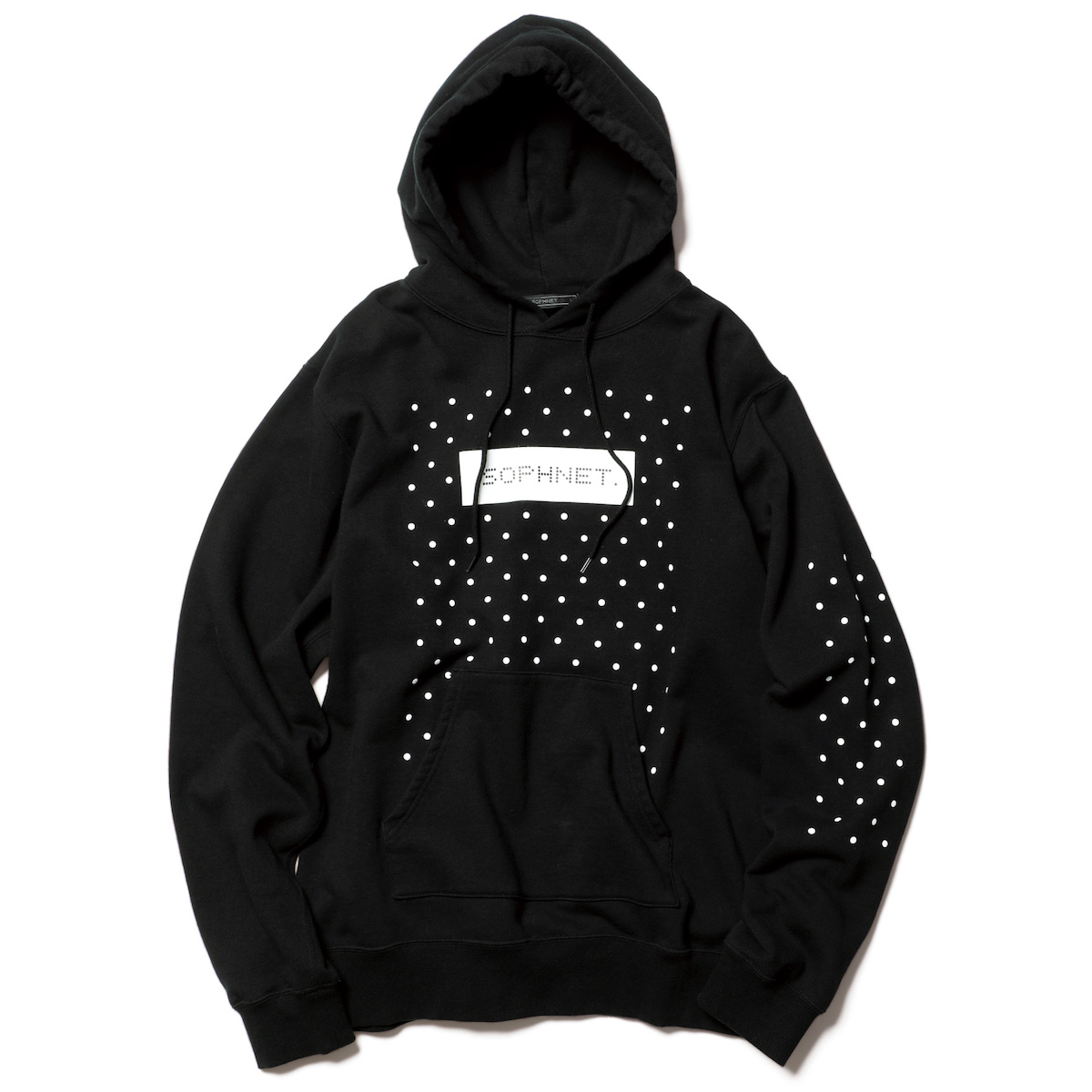 SOPHNET. / AUTHENTIC LOGO DOT HOODIE -Black